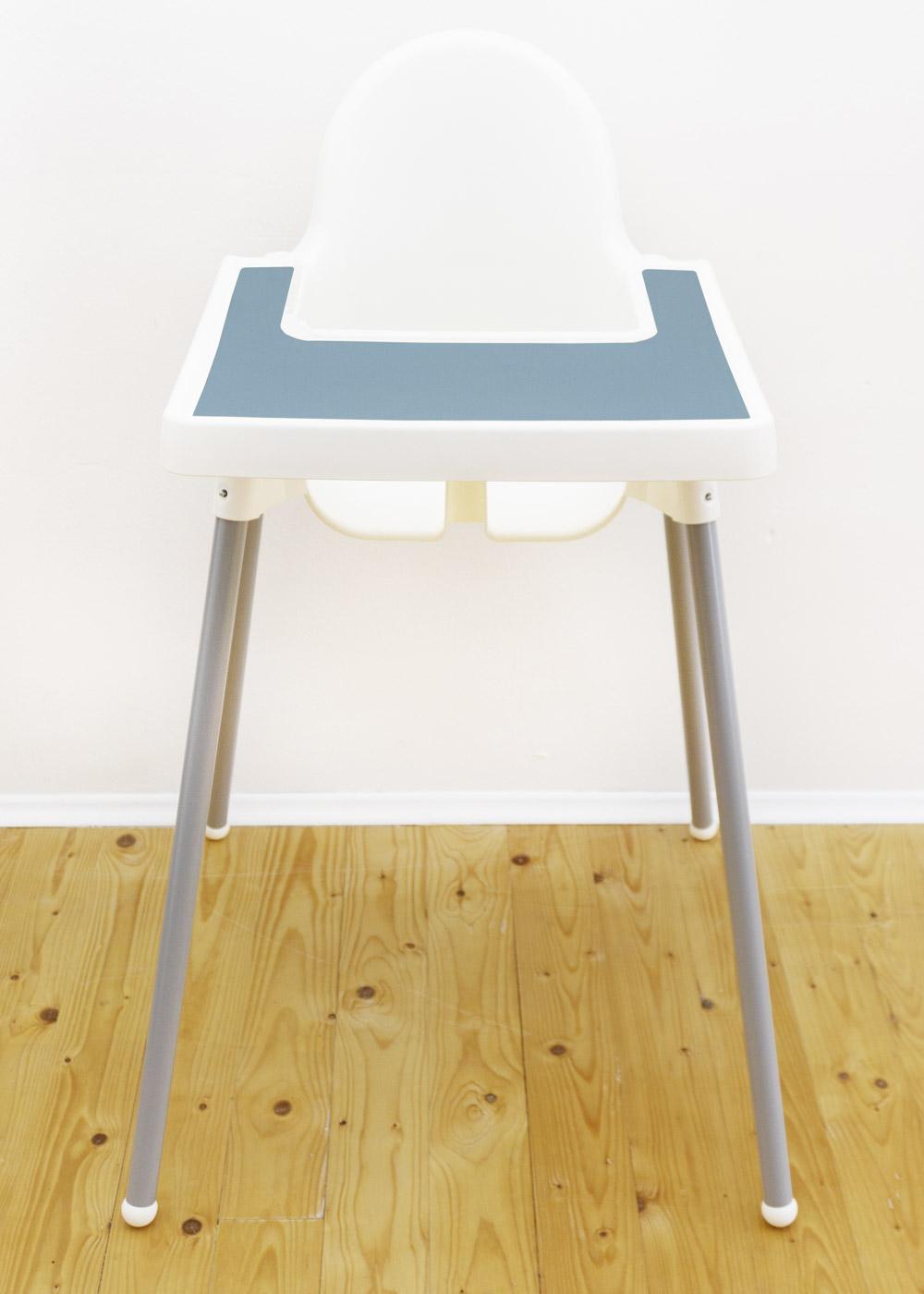 Silikonmatte Ikea Antilop Hochstuhl Klecka Mat nordisch blau Gesamtansicht