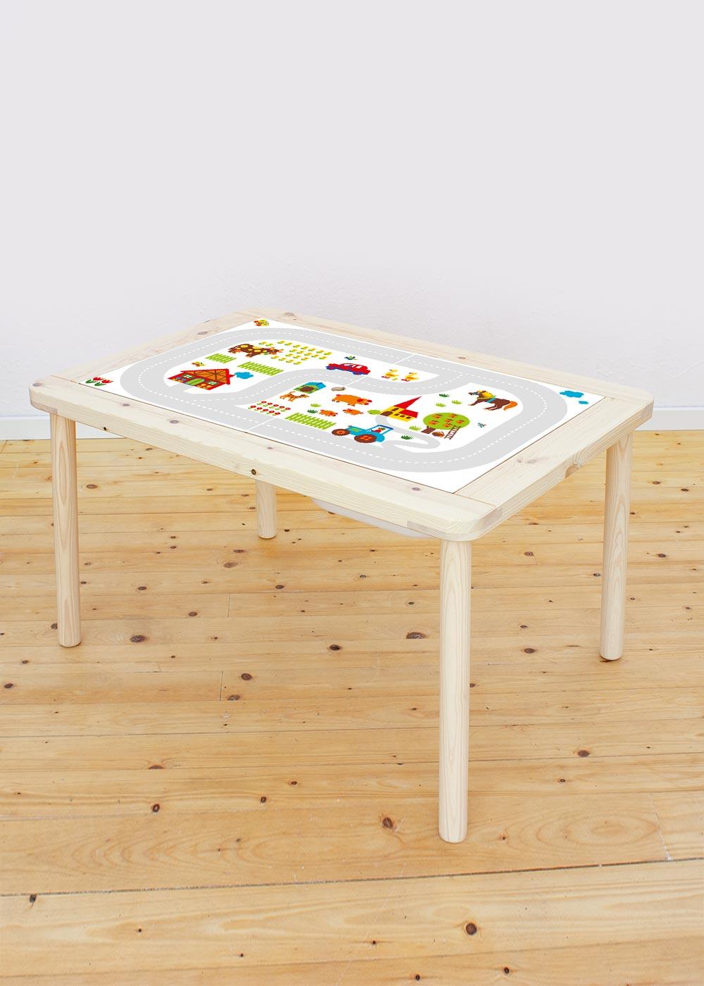 Ikea Flisat Kindertisch ByGraziela Bauernhof Komplettansicht