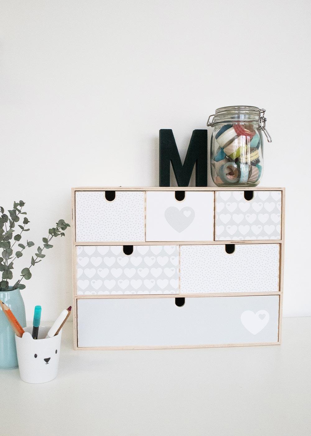 Klebefolie Ikea Moppe ByGraziela grau Herz Beispiel