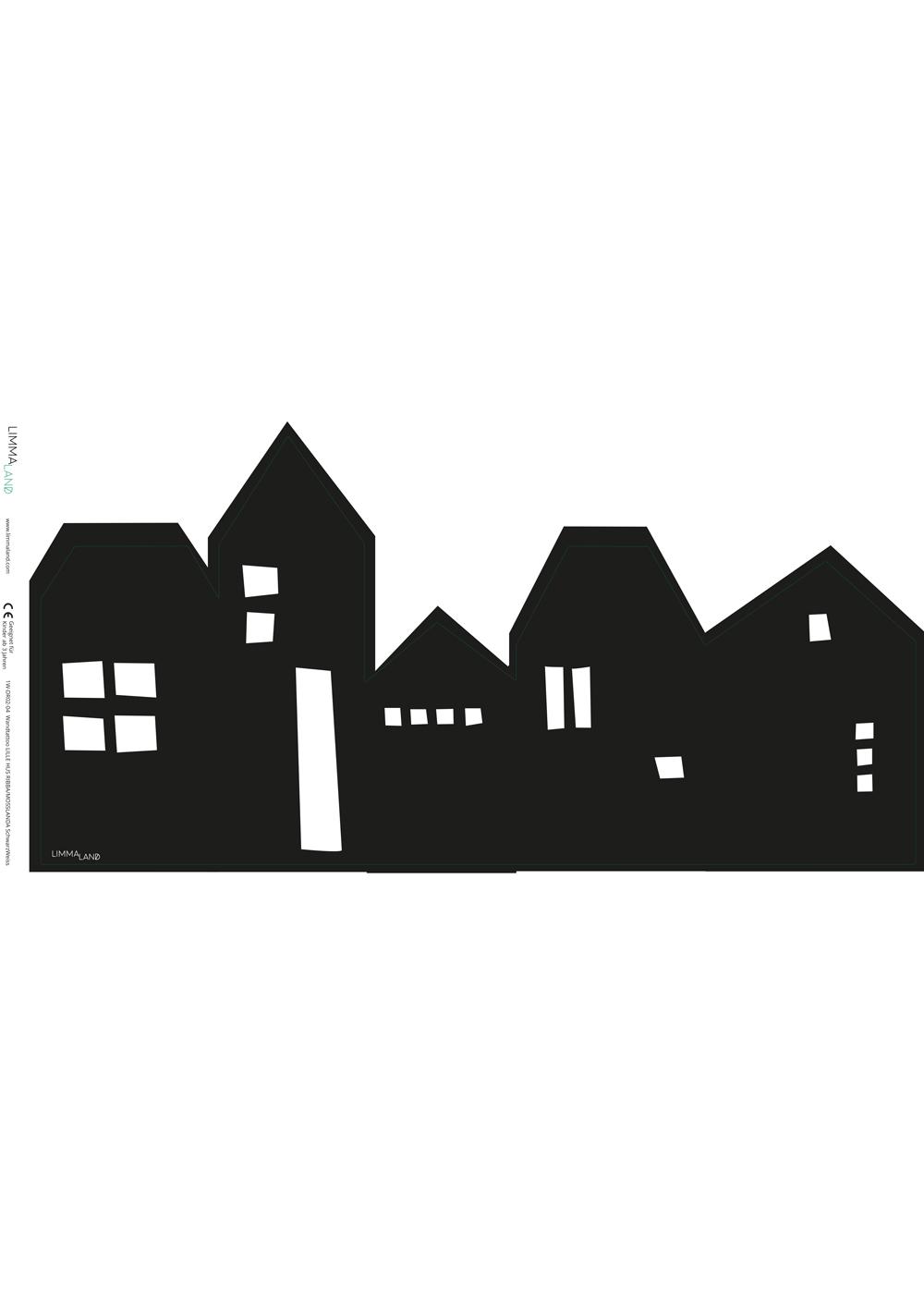 Ikea Mosslanda Bilderleiste Lille Hus schwarz Druckvorlage