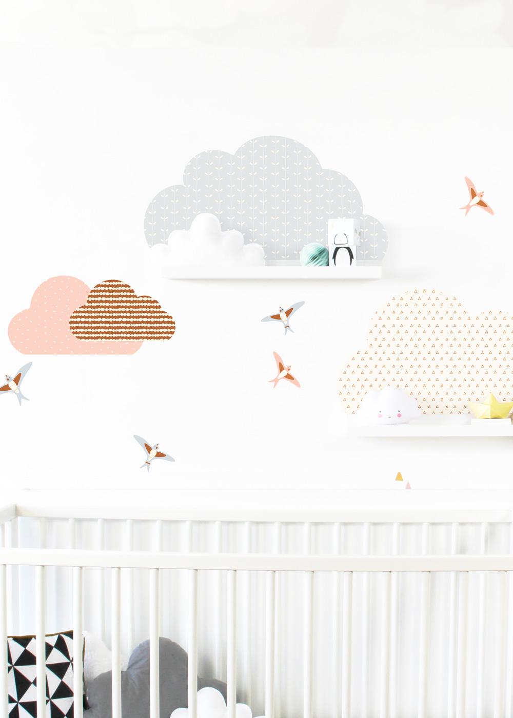 Ikea Mosslanda Bilderleiste Musta Wolken rose camel Gesamtansicht