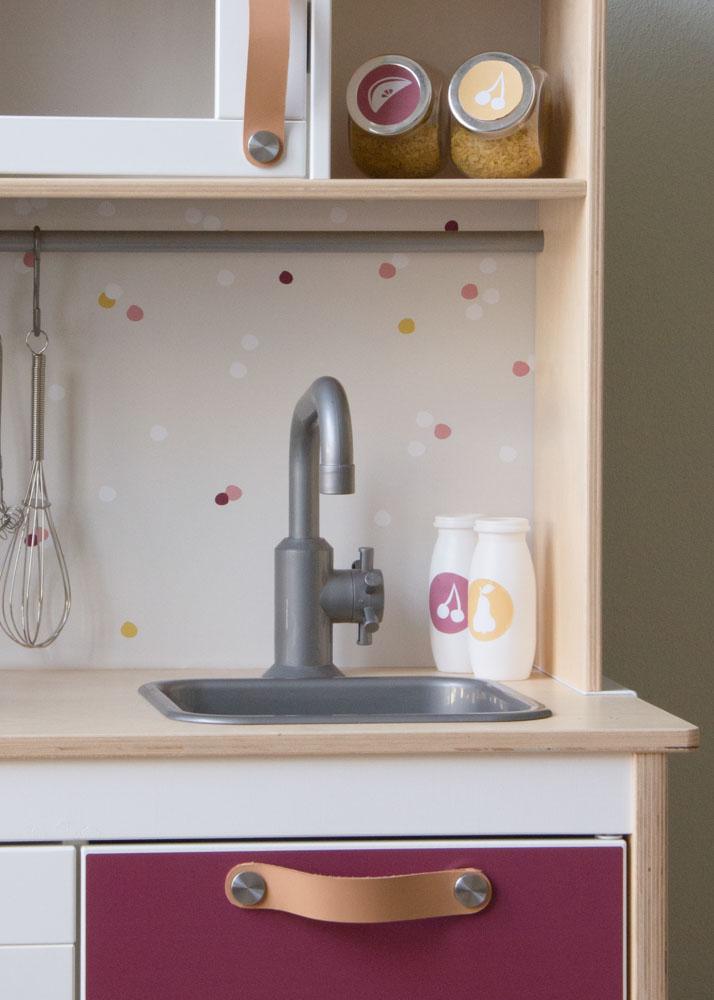 Ikea Duktig Kinderküche Beerig beere Spritzschutz mit Wasserhahn