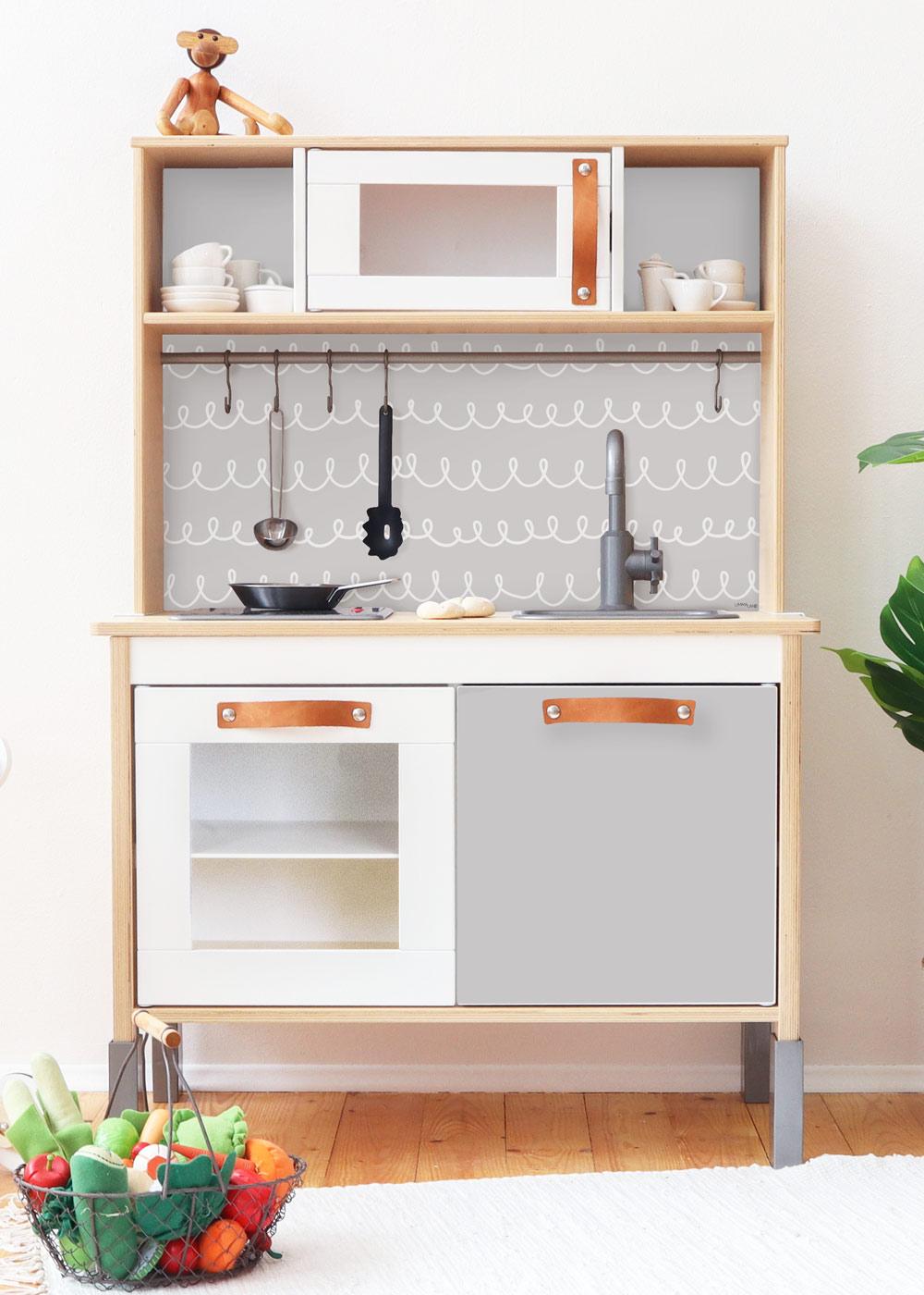 Ikea Duktig Kinderküche Schnörklig Steingrau