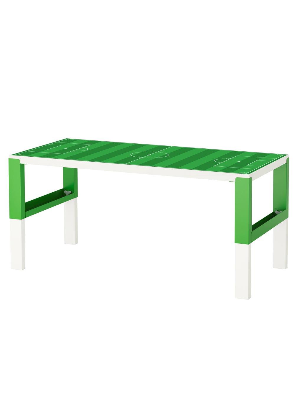 Ikea Pahl Kinderschreibtisch Fussballfeld grün