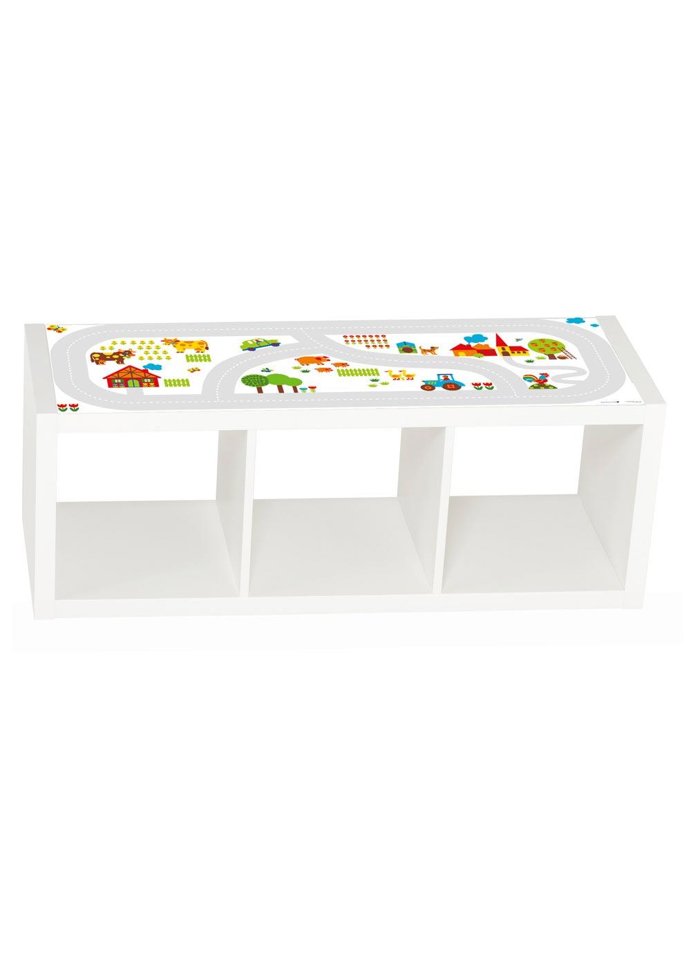 Ikea Kallax Regal ByGraziela Bauernhof 3fach Frontansicht