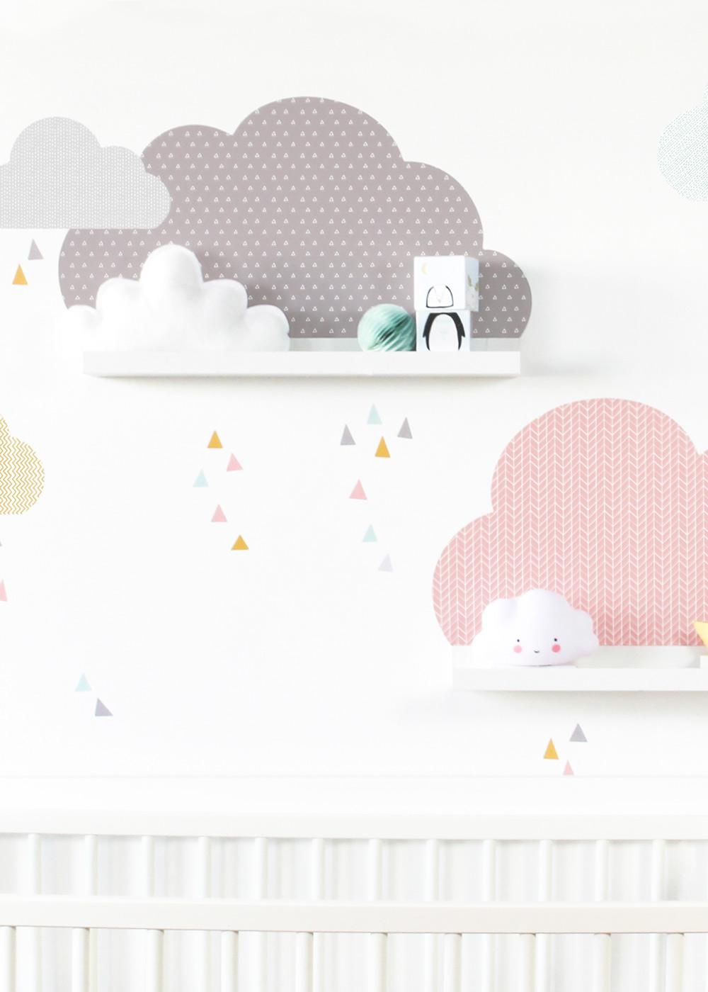 Ikea Mosslanda Bilderleiste Musta Wolken rosa taupe Teilansicht