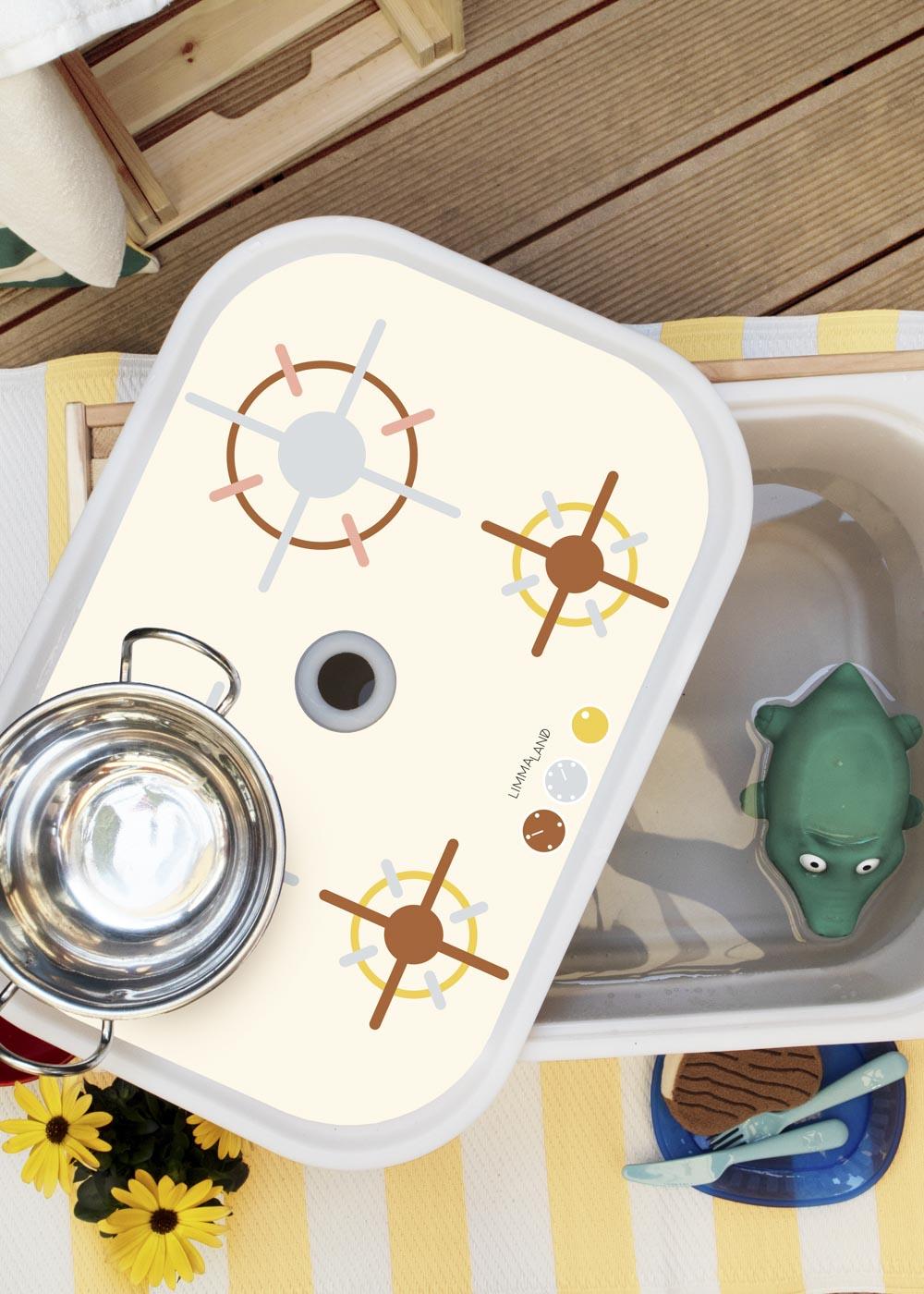 Ikea Trofast Box Matschküche Erdig und Feurig sand Herd