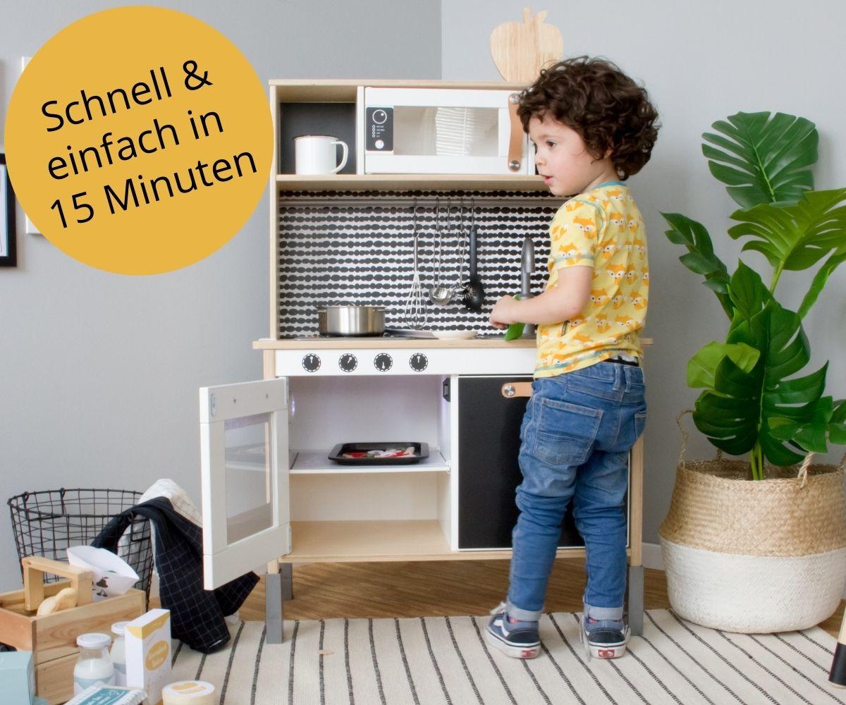 Kinderküche in 15 min verschönern