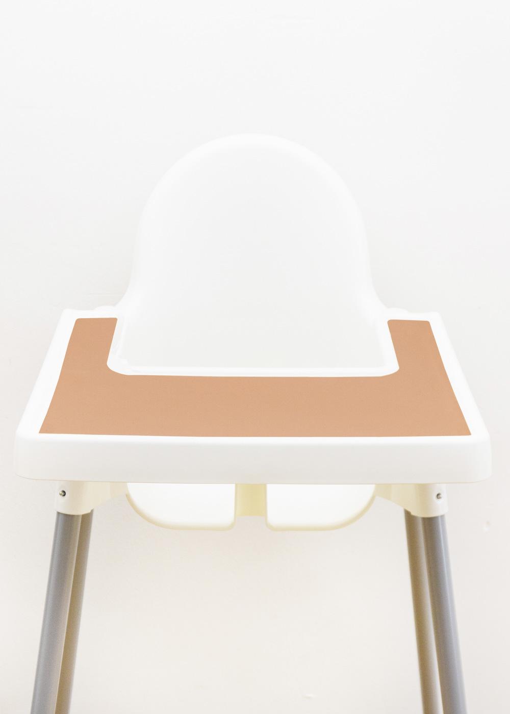 Silikonmatte Ikea Antilop Hochstuhl Klecka Mat rose