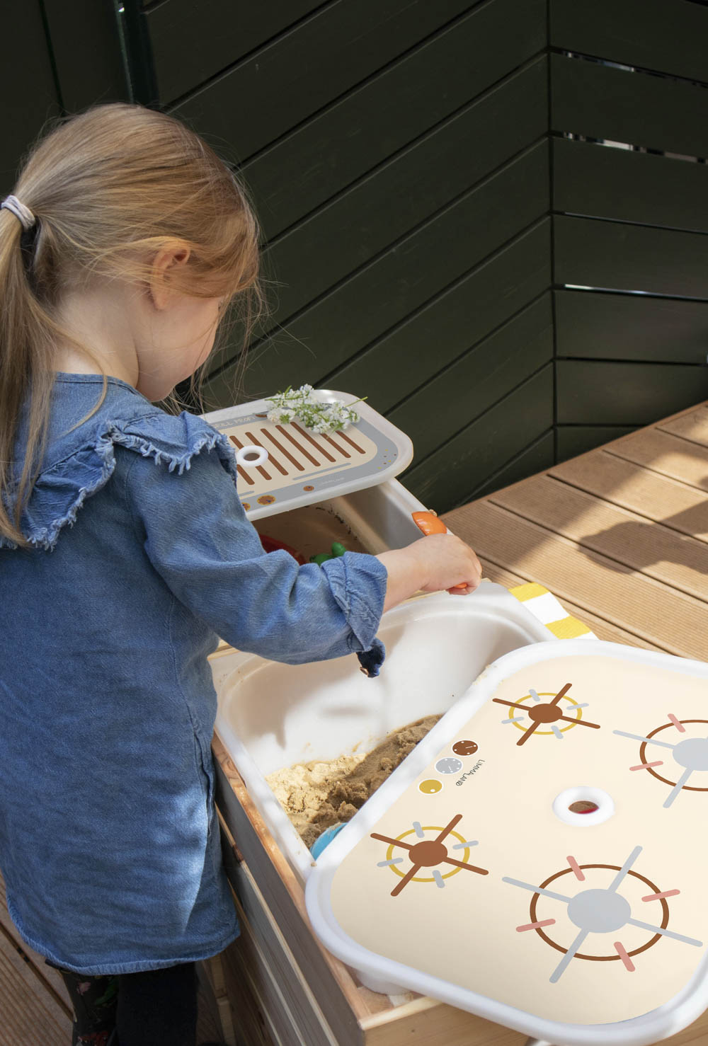Ikea Trofast Box Kinderherd Erdig sand Teilansicht Spiel