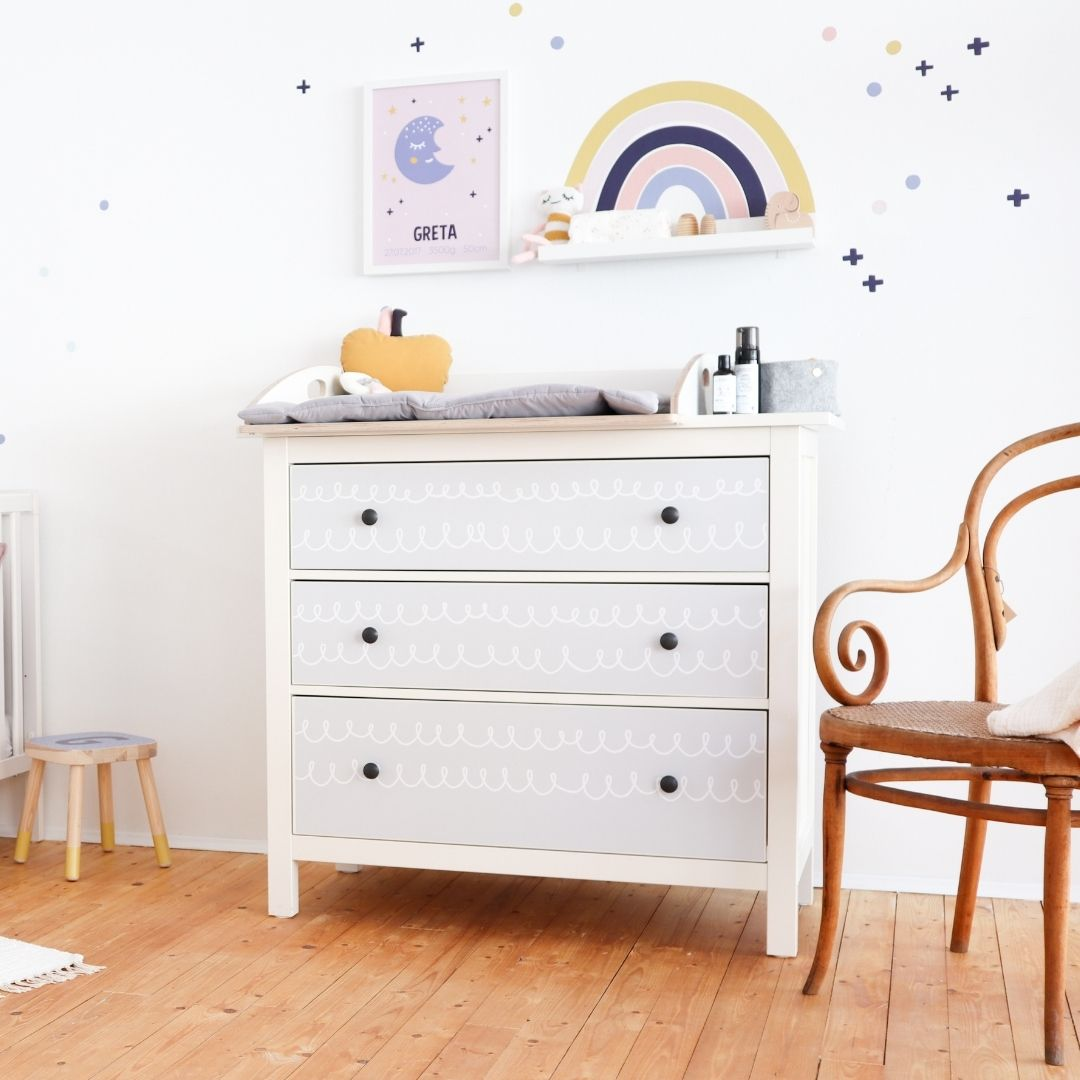Ikea Babyzimmer Regenbogen Klebefolie