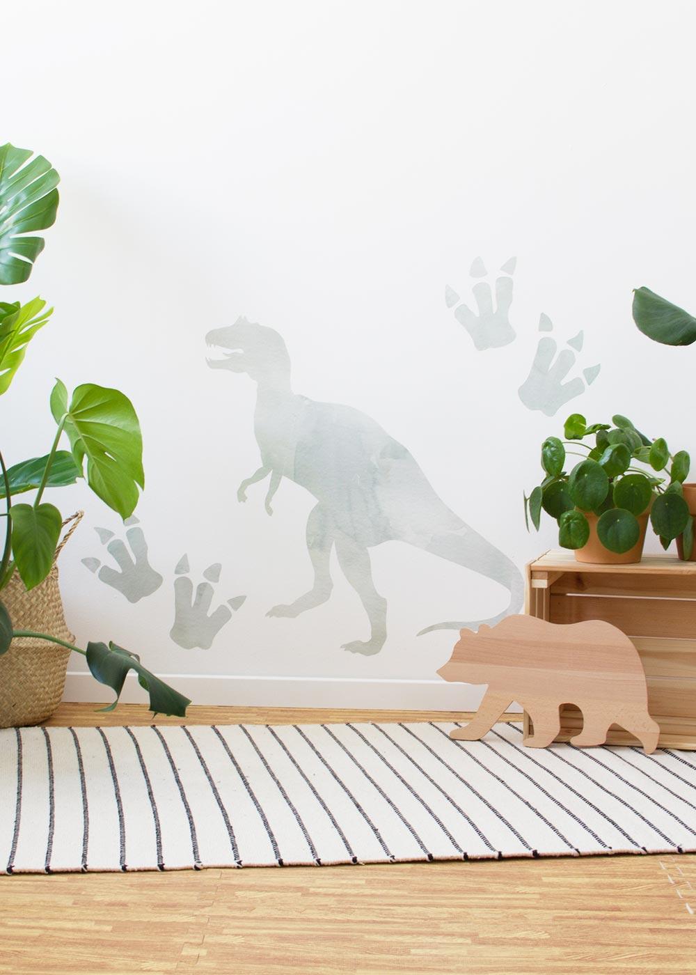 Stickerset Wand Dino Frontansicht