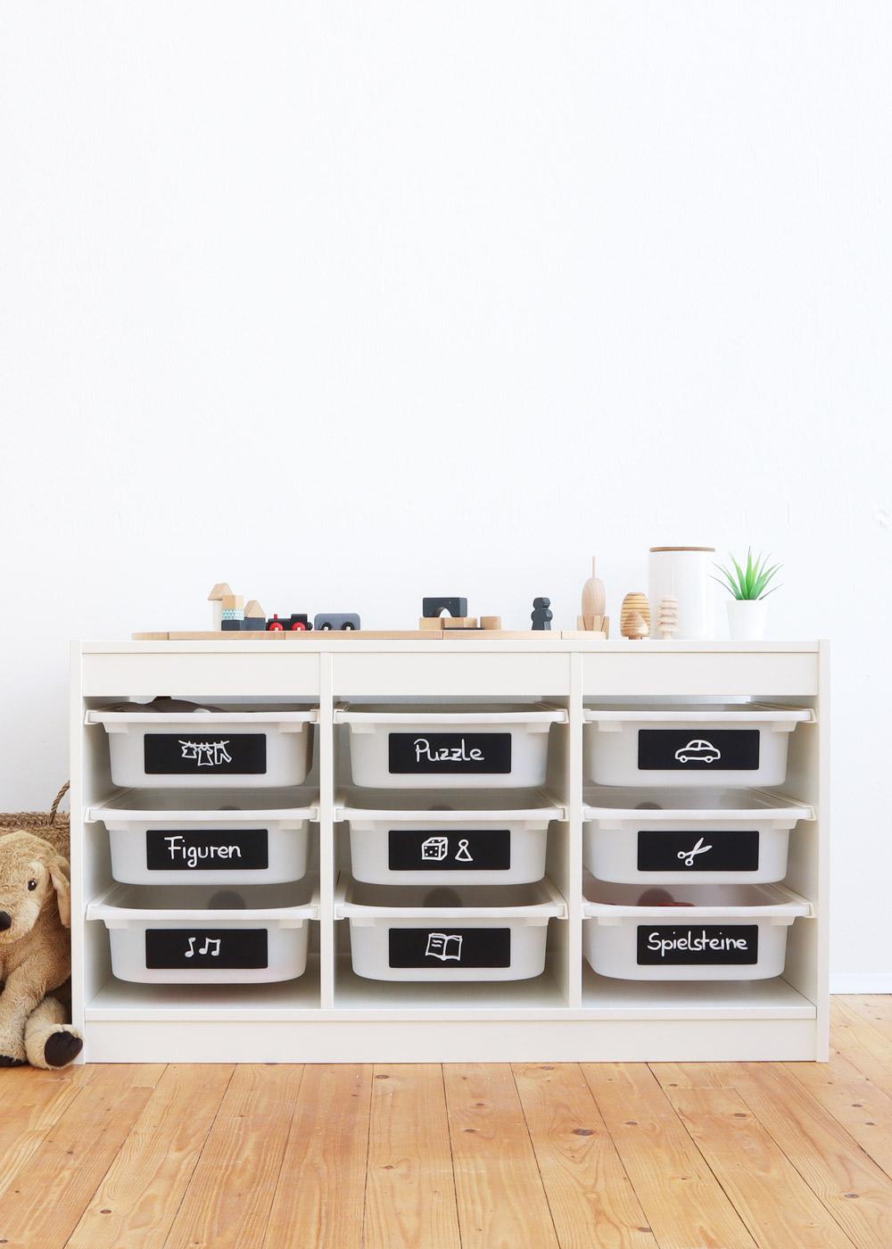 Ikea Trofast Kreidereich Tafelfolie Frontansicht