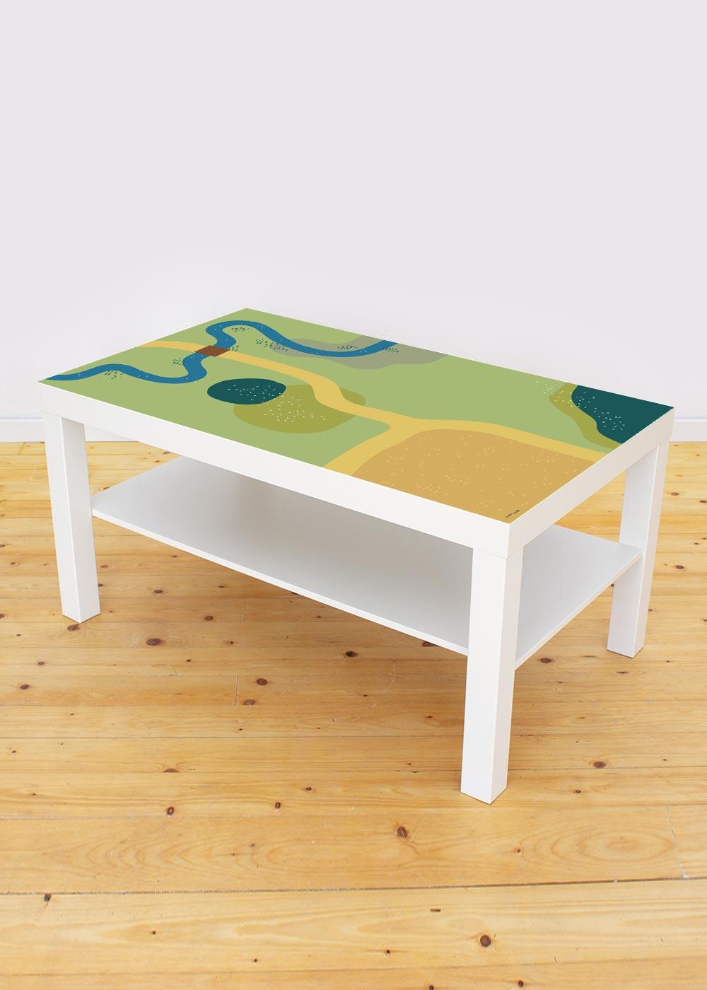 Ikea Lack Couchtisch Spielwiese 55x90 Gesamtansicht