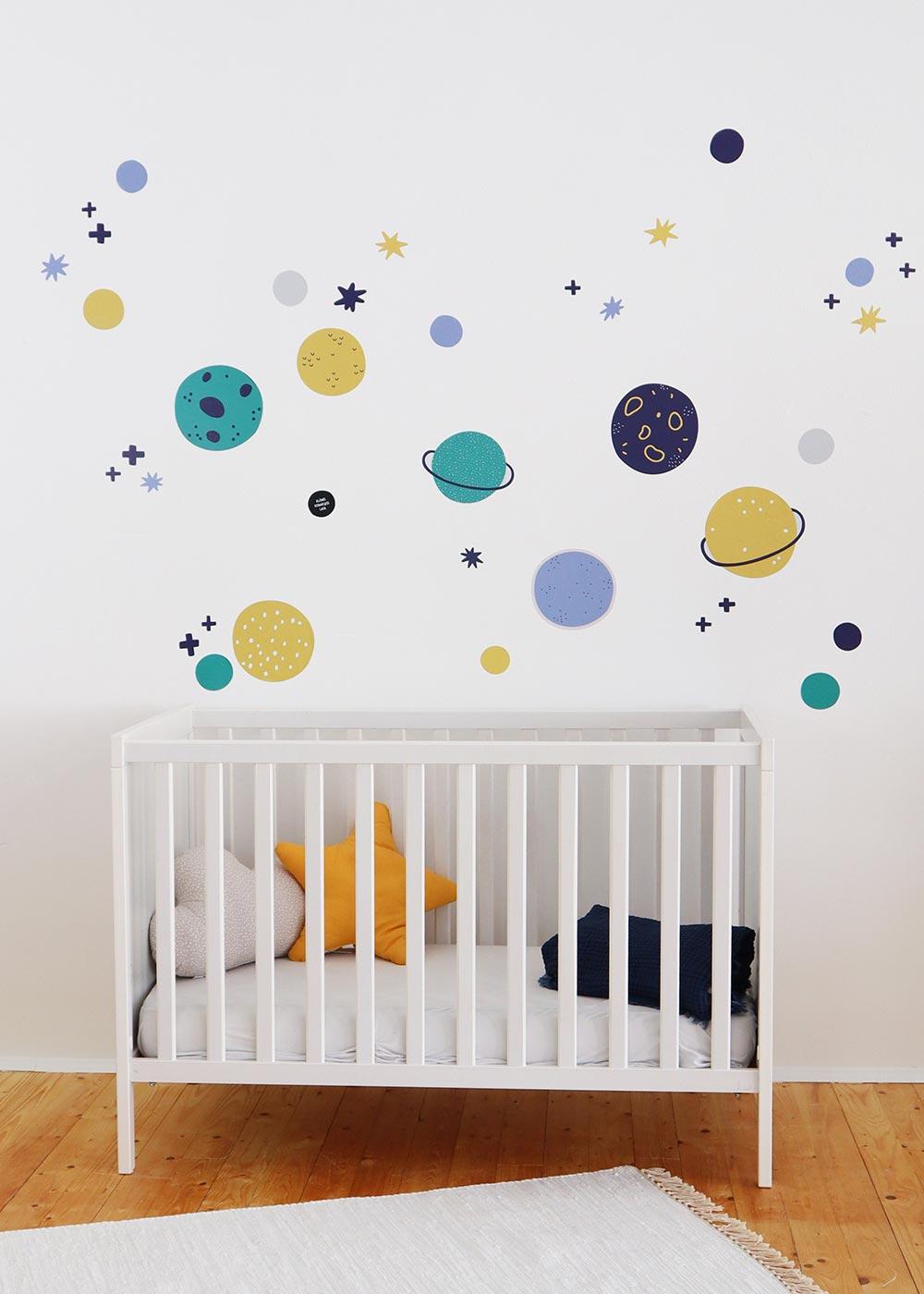 Stickerset Wand Möbel Unendlig Planeten