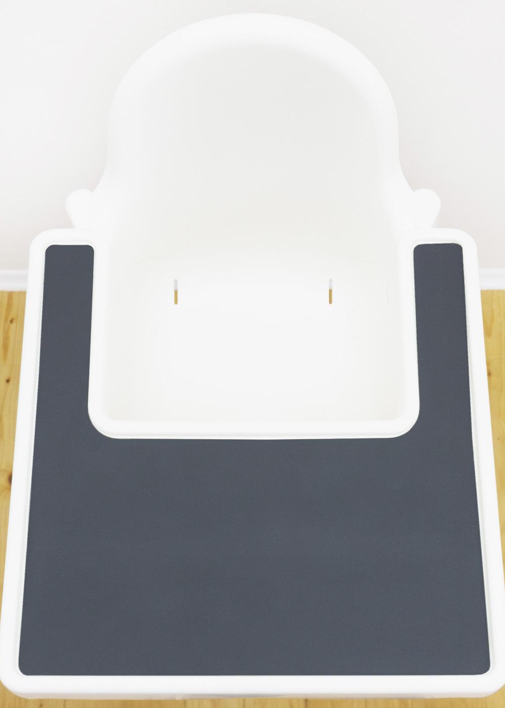 Silikonmatte Ikea Antilop Hochstuhl Klecka Mat schiefer Gesamtansicht Tablett