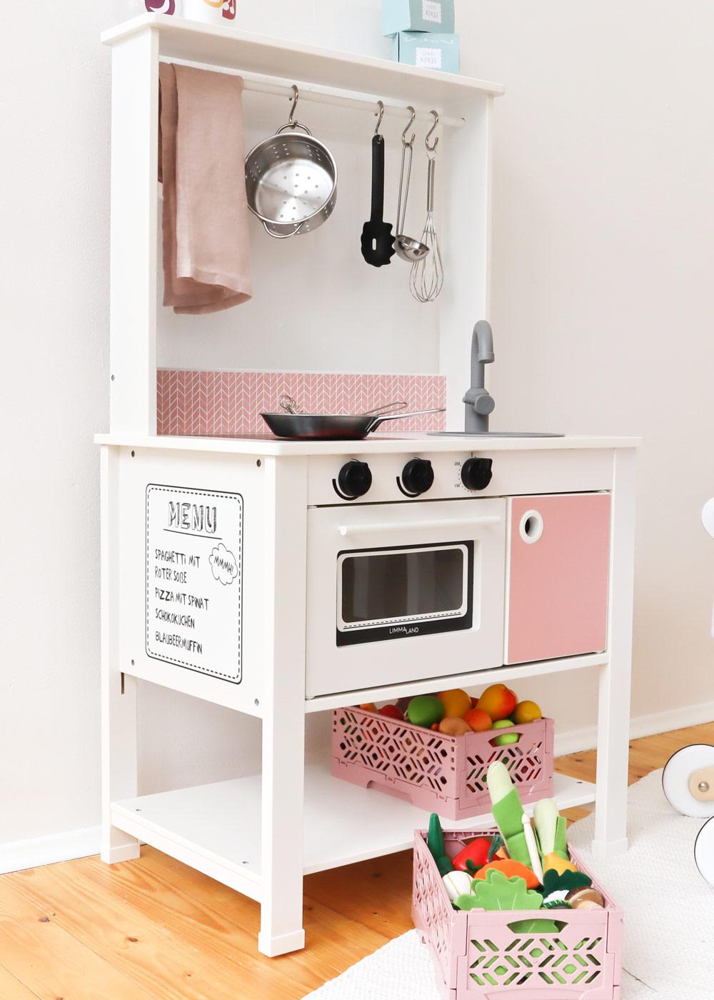 Ikea Spisig Kinderküche Skandig Rosa Gesamtansicht Seite