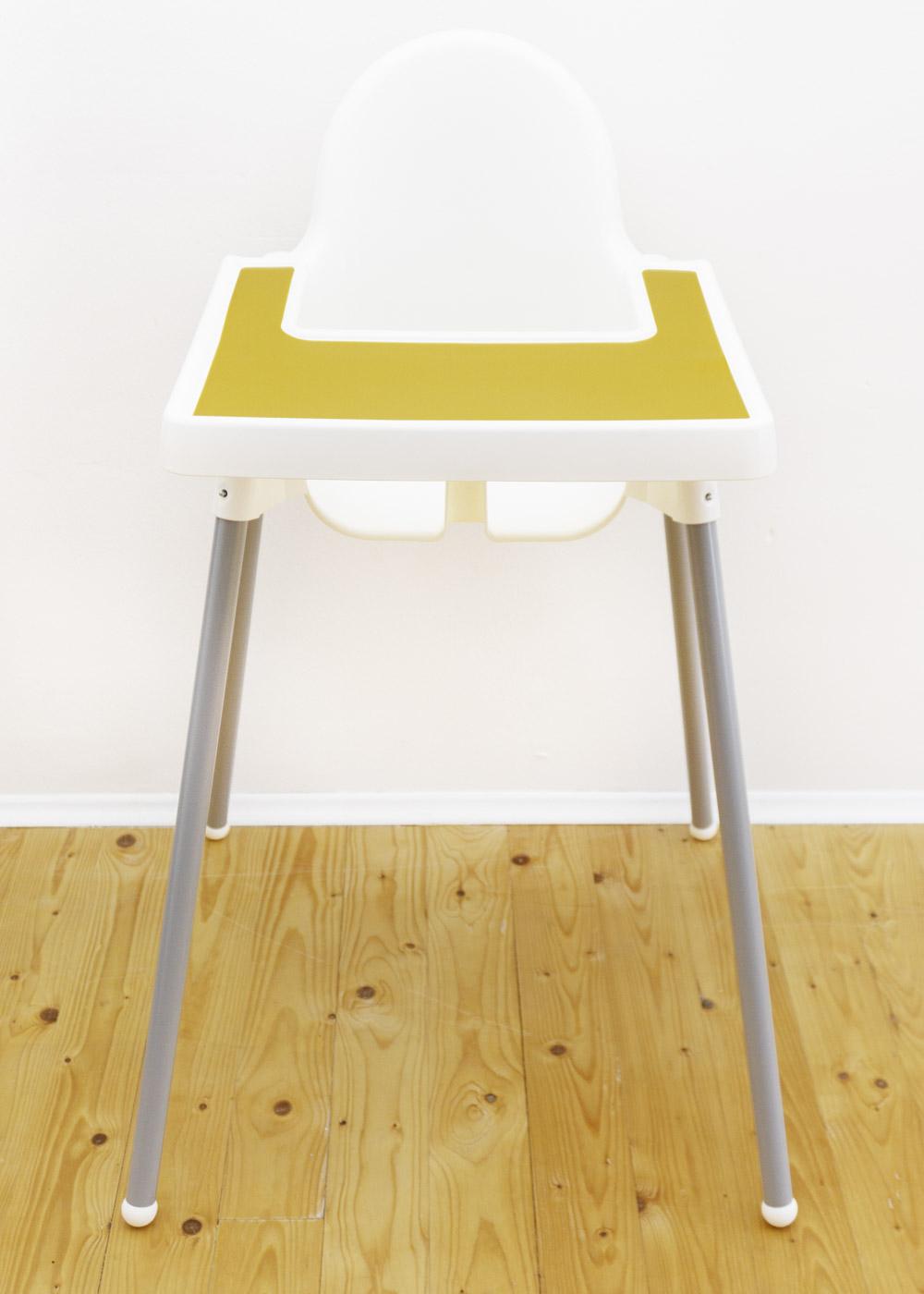 Silikonmatte Ikea Antilop Hochstuhl Klecka Mat senf Gesamtansicht