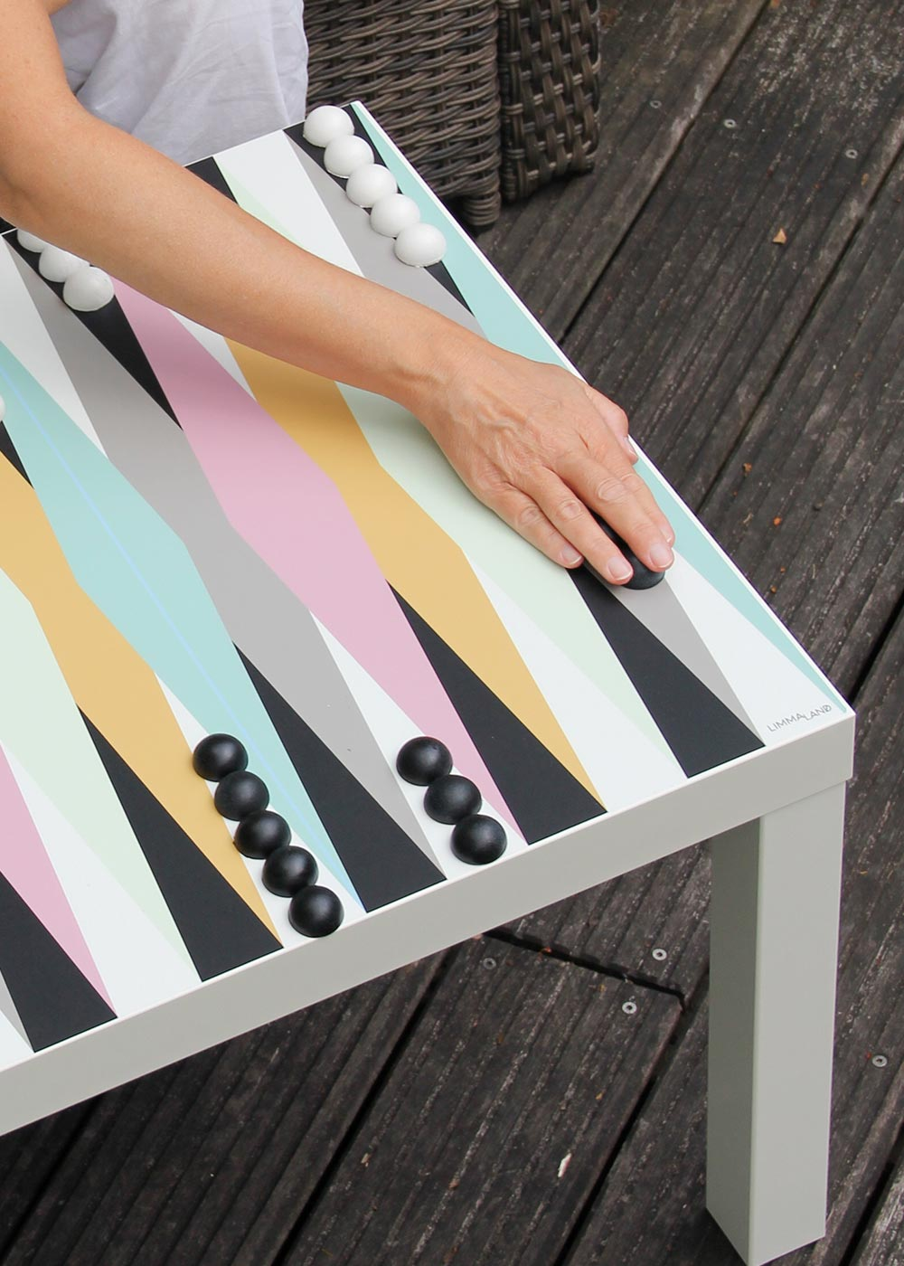Ikea Lack Beistelltisch Backgammon XXL Teilansicht