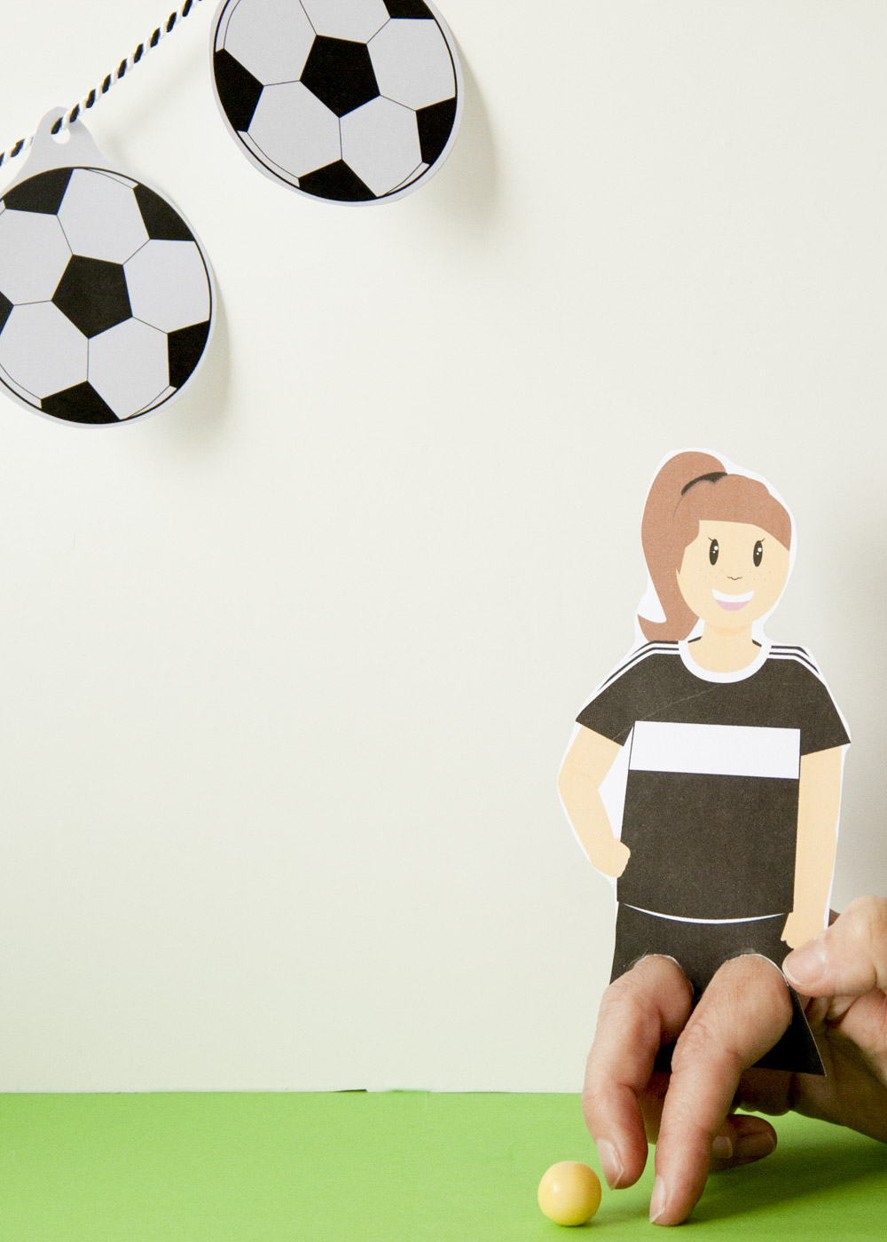 Bastelset Kindergeburtstag Fussball - Spiel