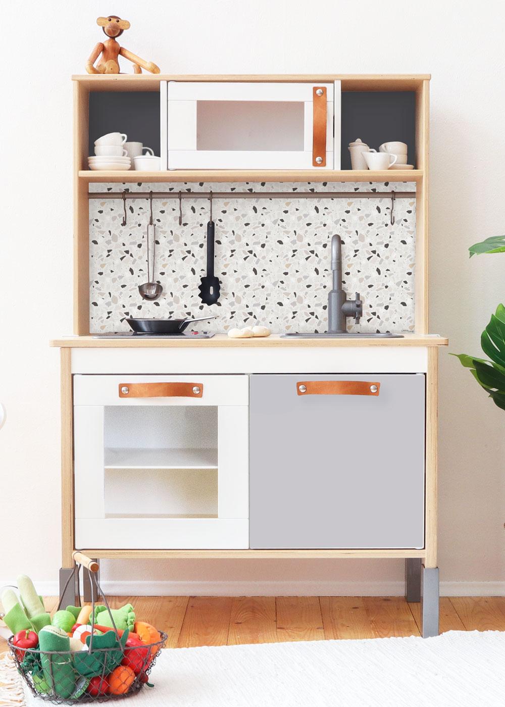 Ikea Duktig Kinderküche Terrazzo Blaugrau Gesamtansicht