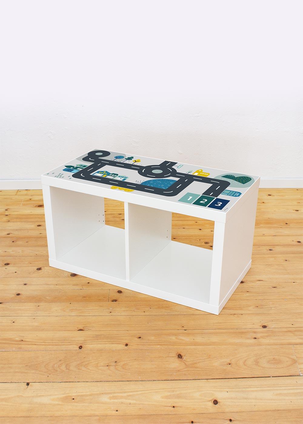 Ikea Kallax Regal Smastraat 2fach Komplettansicht