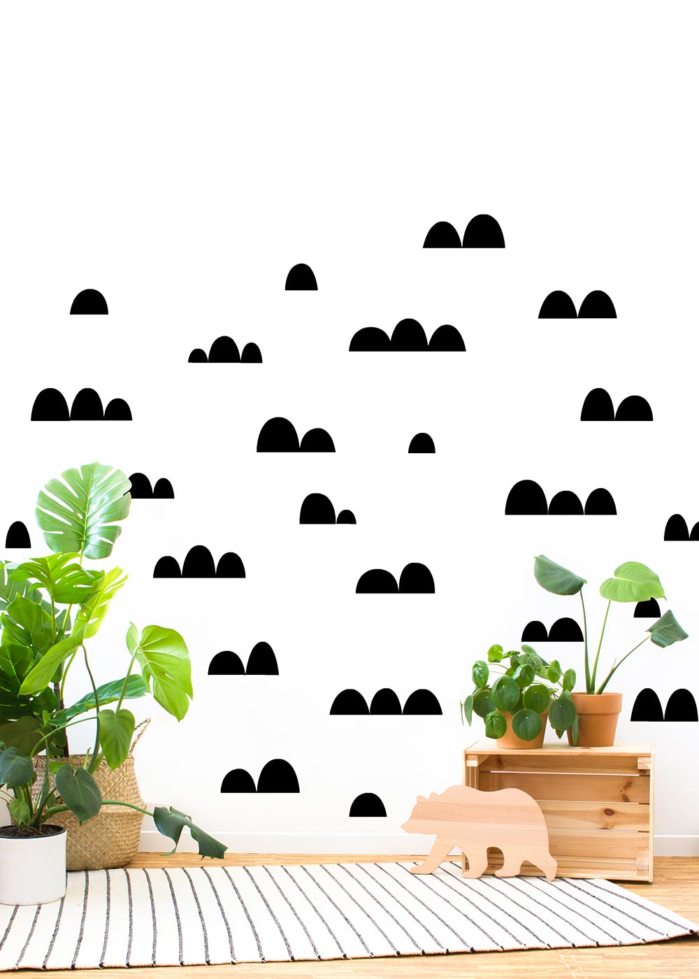 Halbkreis schwarz Sticker Wand