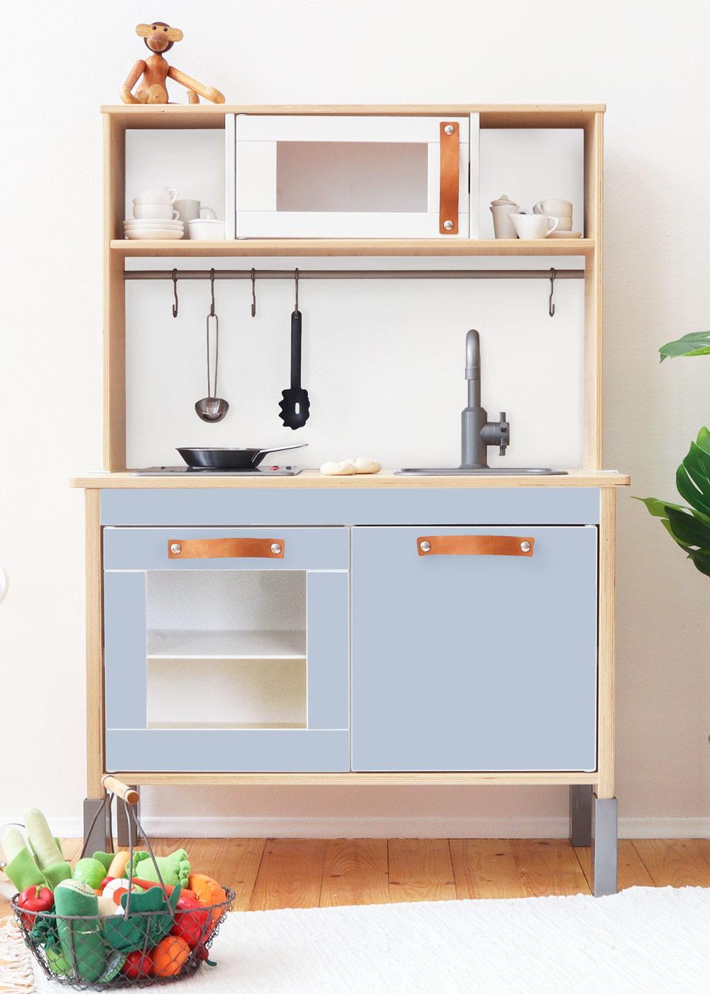 Ikea Duktig Kinderküche Frontli Nordisch blau Frontansicht