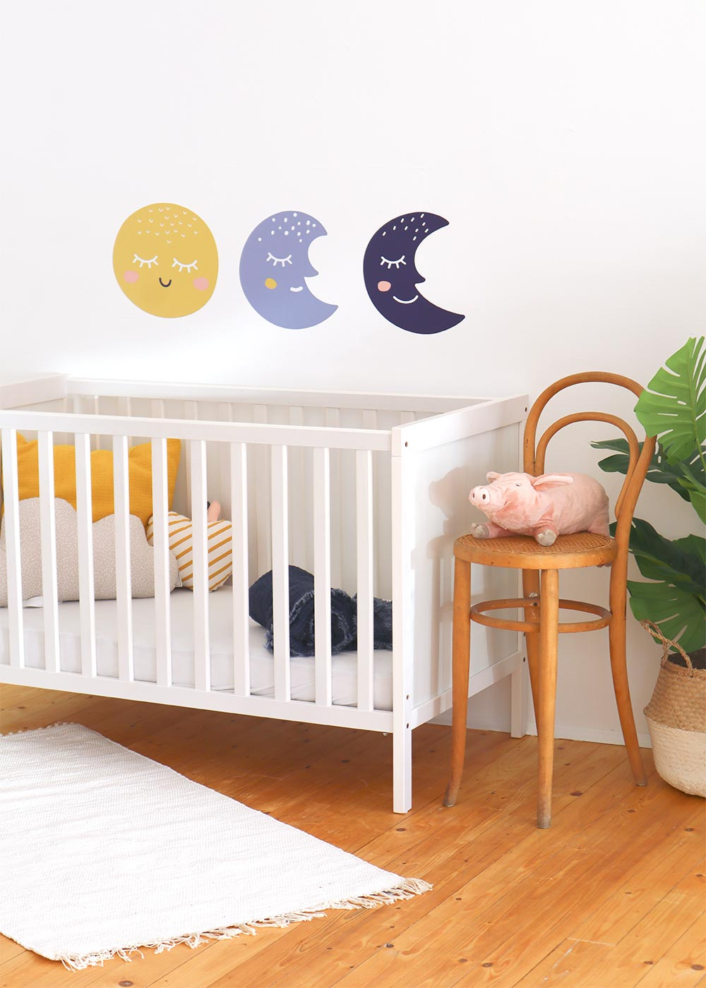 Stickerset Wand Möbel Monde Godnatt Gesamtansicht