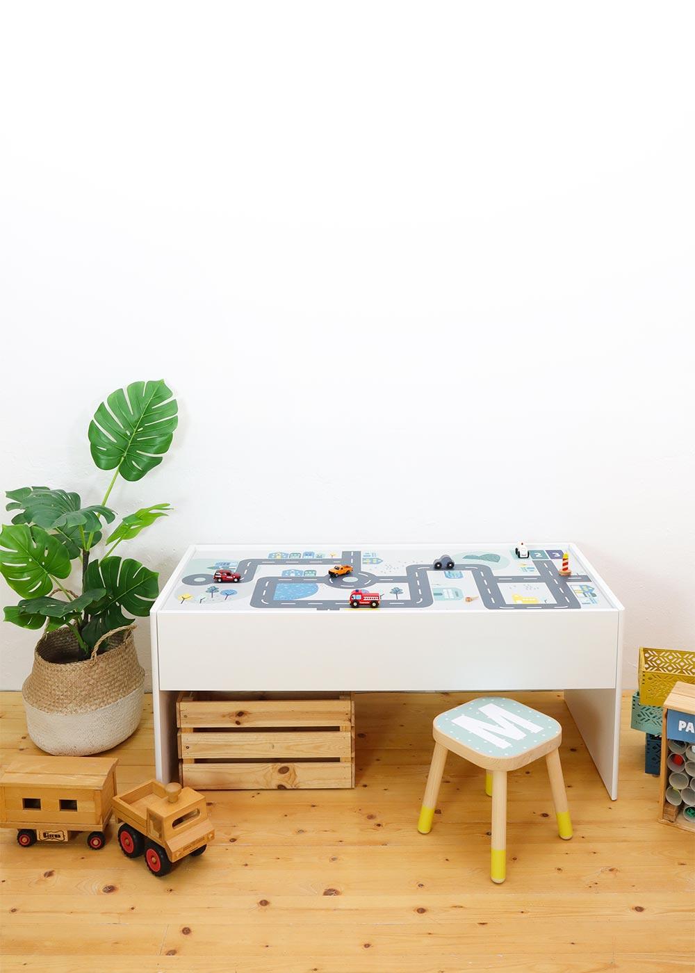Ikea Dundra Spieltisch Smastraat Komplettansicht Seite