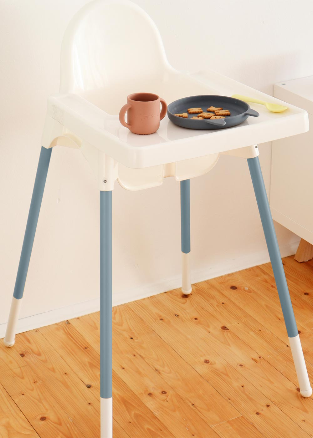 Ikea Antilop Hochstuhl Snygga Fot Nordisch Blau Kind