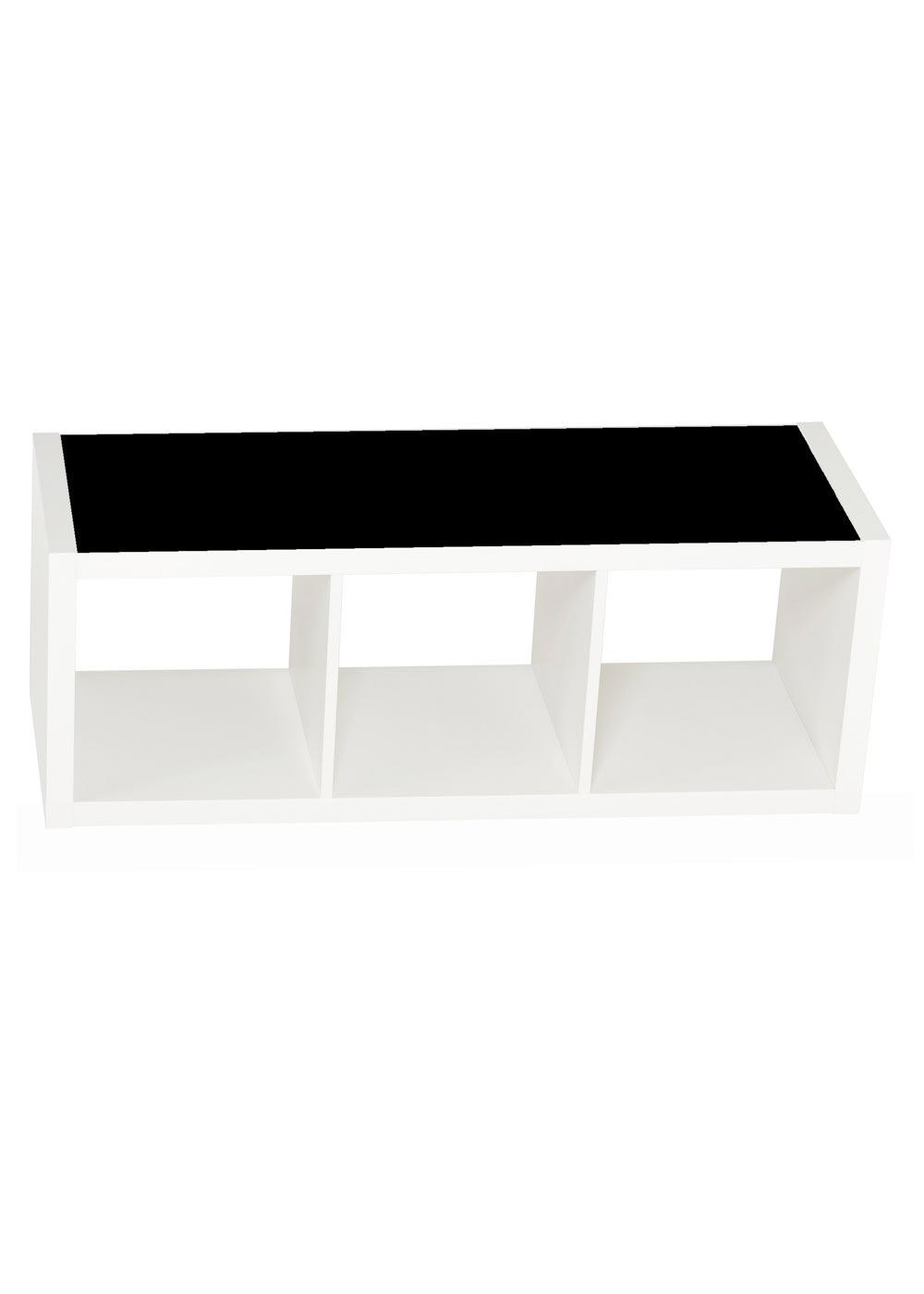 Ikea Kallax Regal 3fach Ideenreich Tafelfolie Gesamtansicht