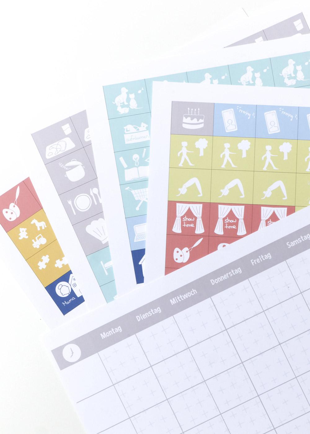 Bastelset Wochenplan Kinder mit Symbolen