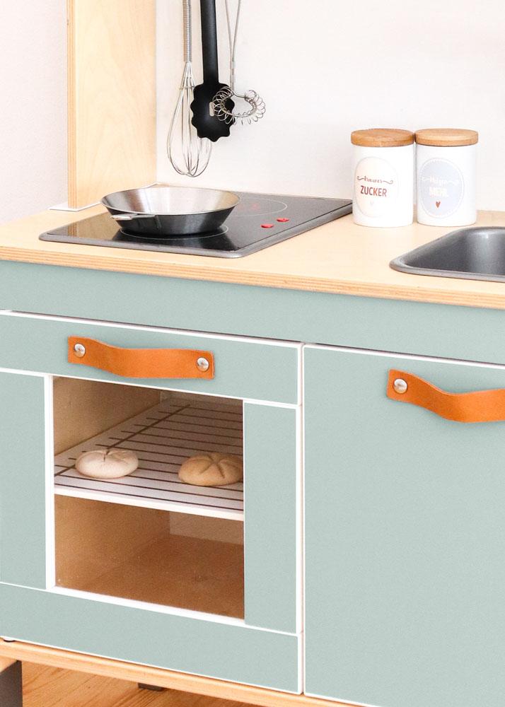 Ikea Duktig Kinderküche Frontli  Salbei Teilansicht