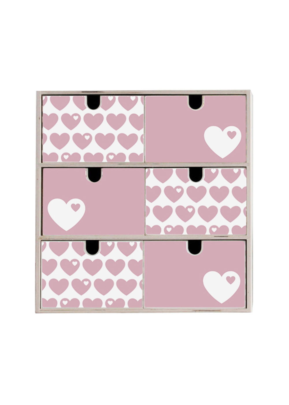 Klebefolie Ikea Mini Moppe ByGraziela Herz rosa