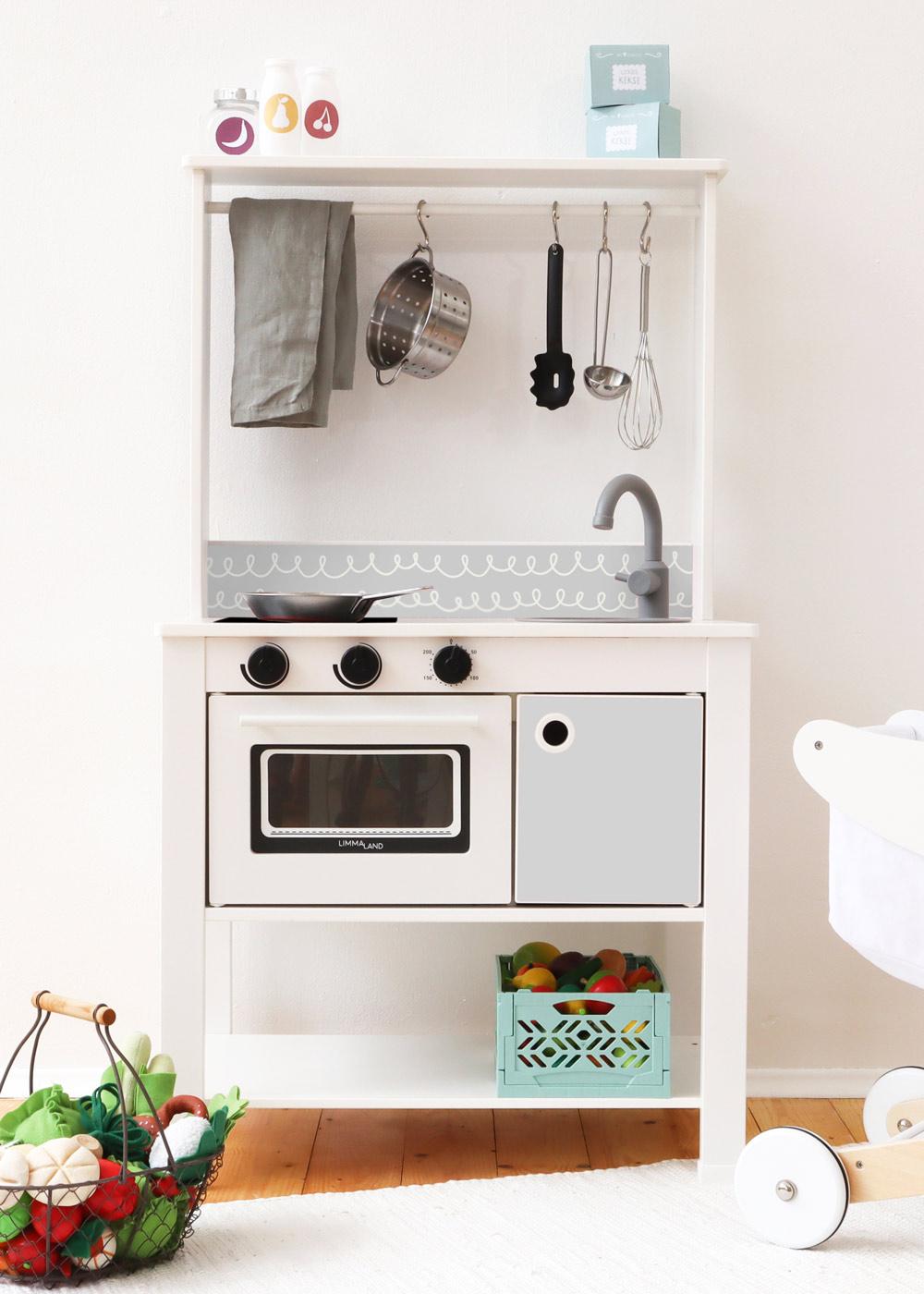 Ikea Spisig Kinderküche Schnörklig steingrau
