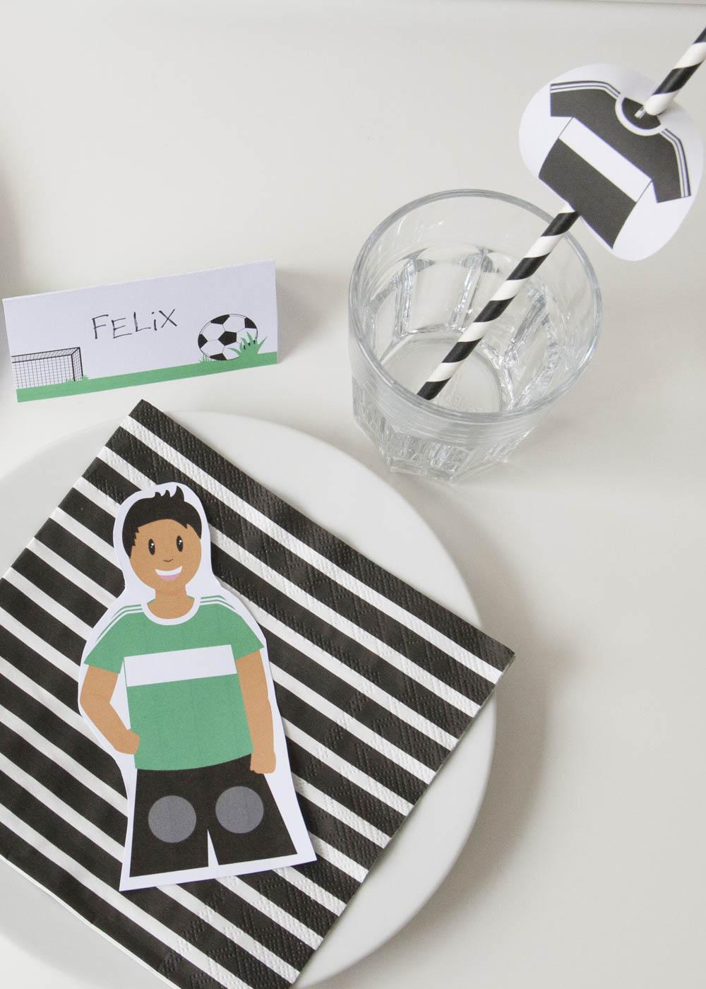 Bastelset Kindergeburtstag Fussball - Deko Teller