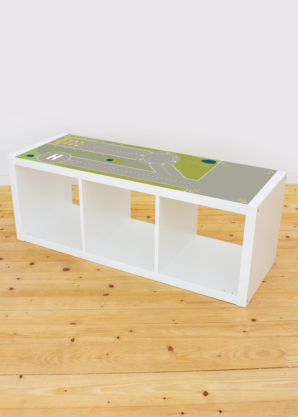 Ikea Kallax Regal Landebahn 3fach Komplettansicht