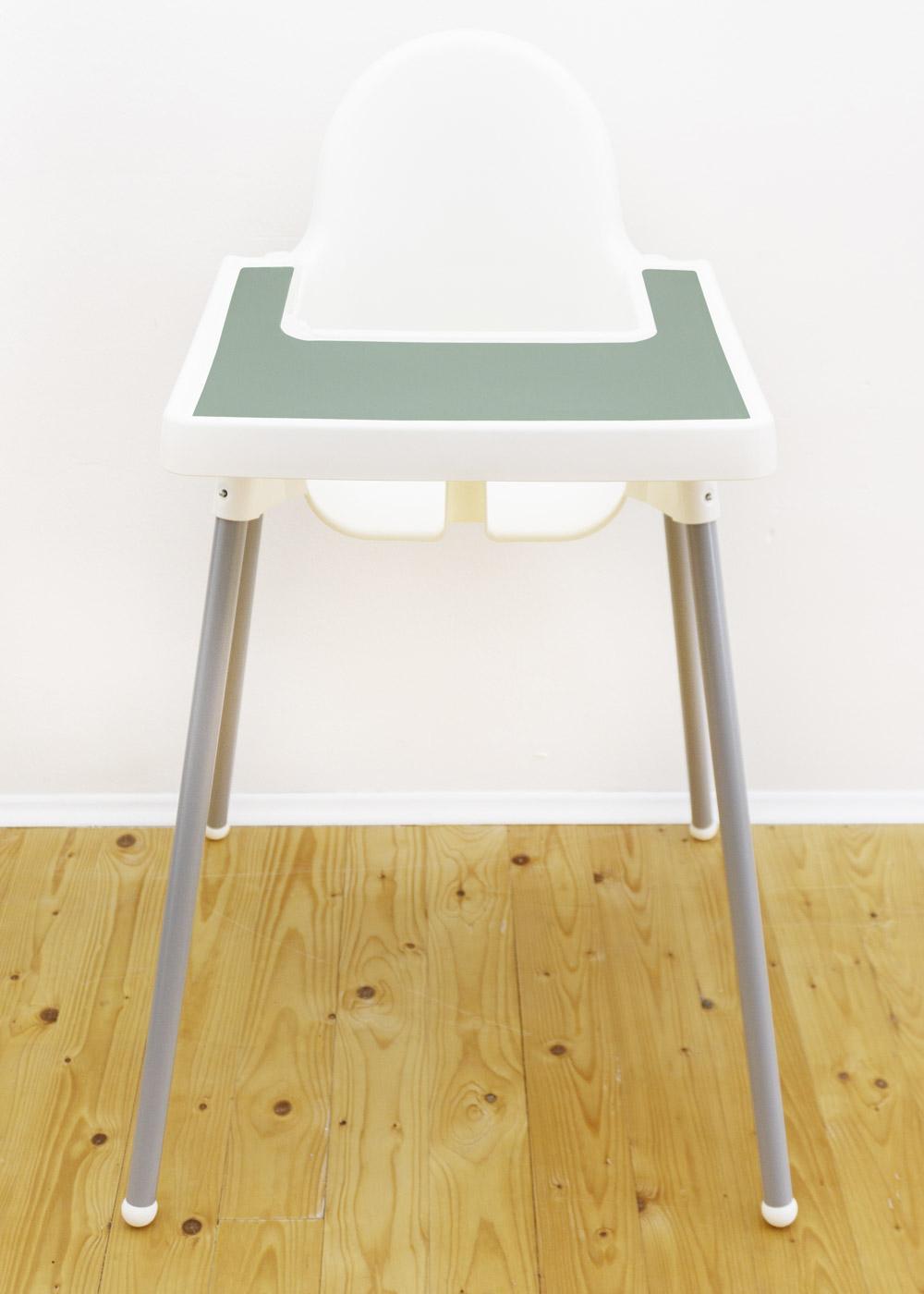 Silikonmatte Antilop Hochstuhl Eukalyptus Stuhl