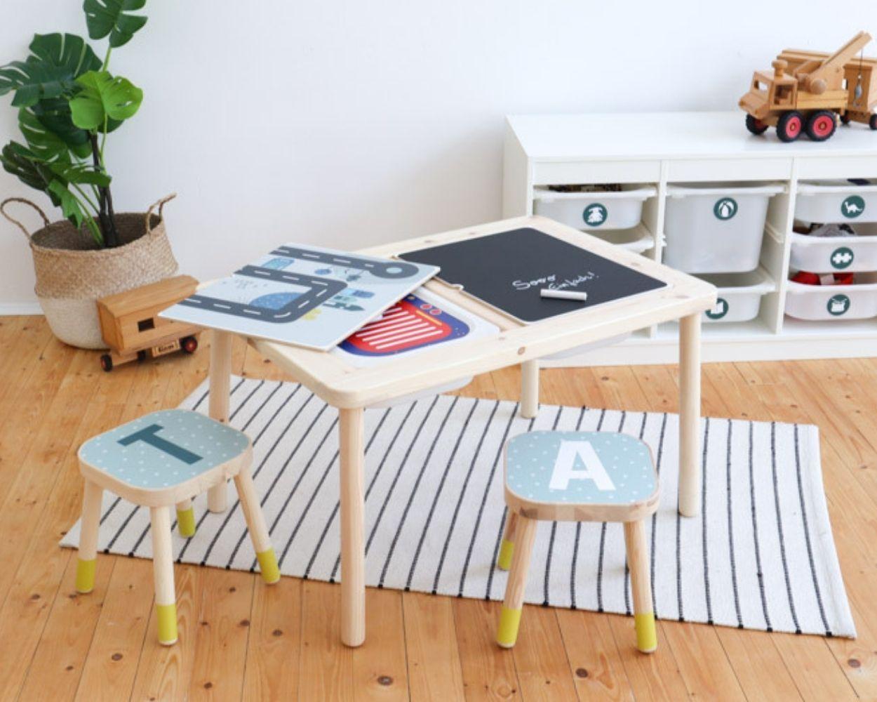 Ikea Multifunktionstisch gestalten Klebefolie