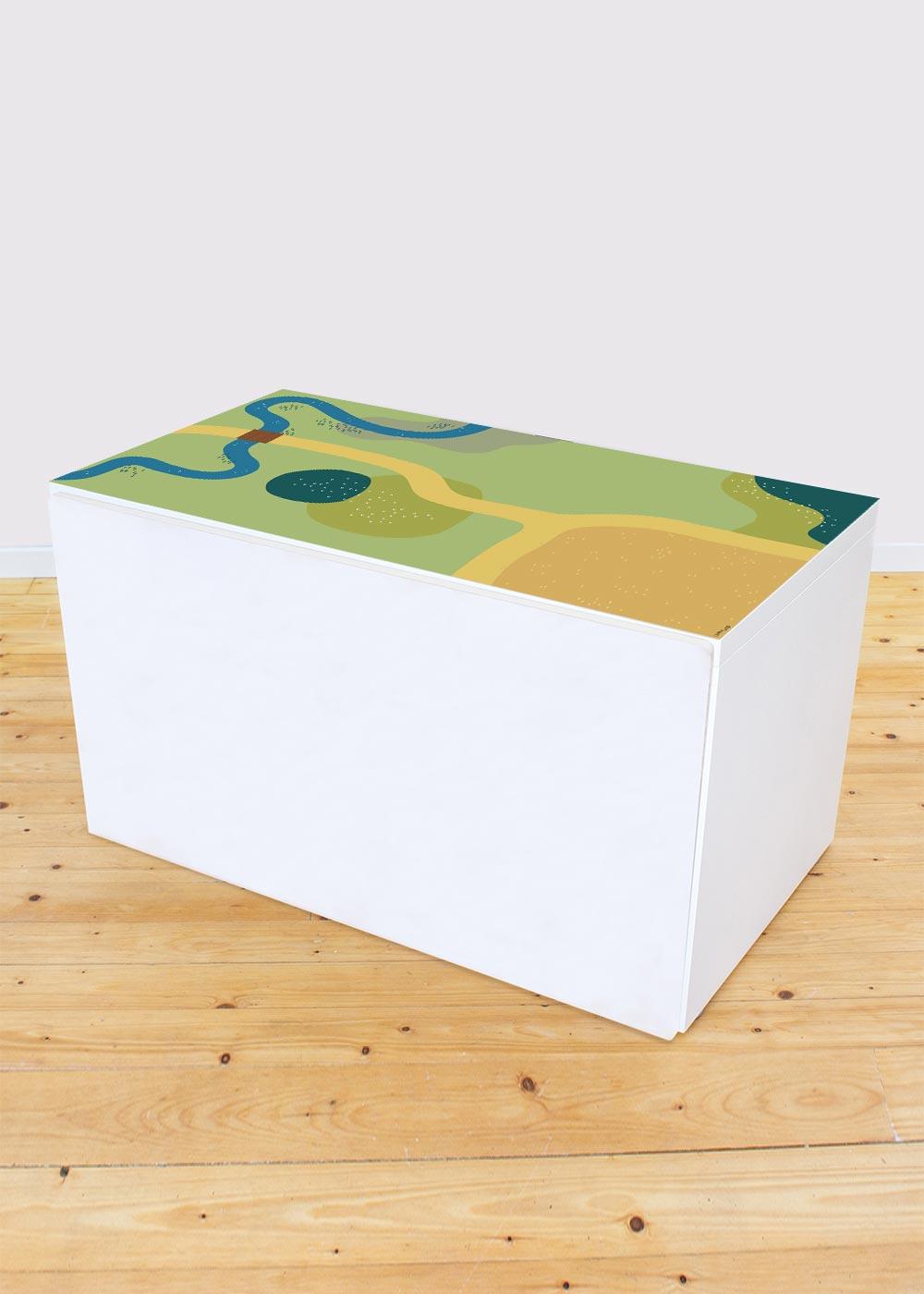 Ikea Smastad Bank Spielwiese Gesamtansicht