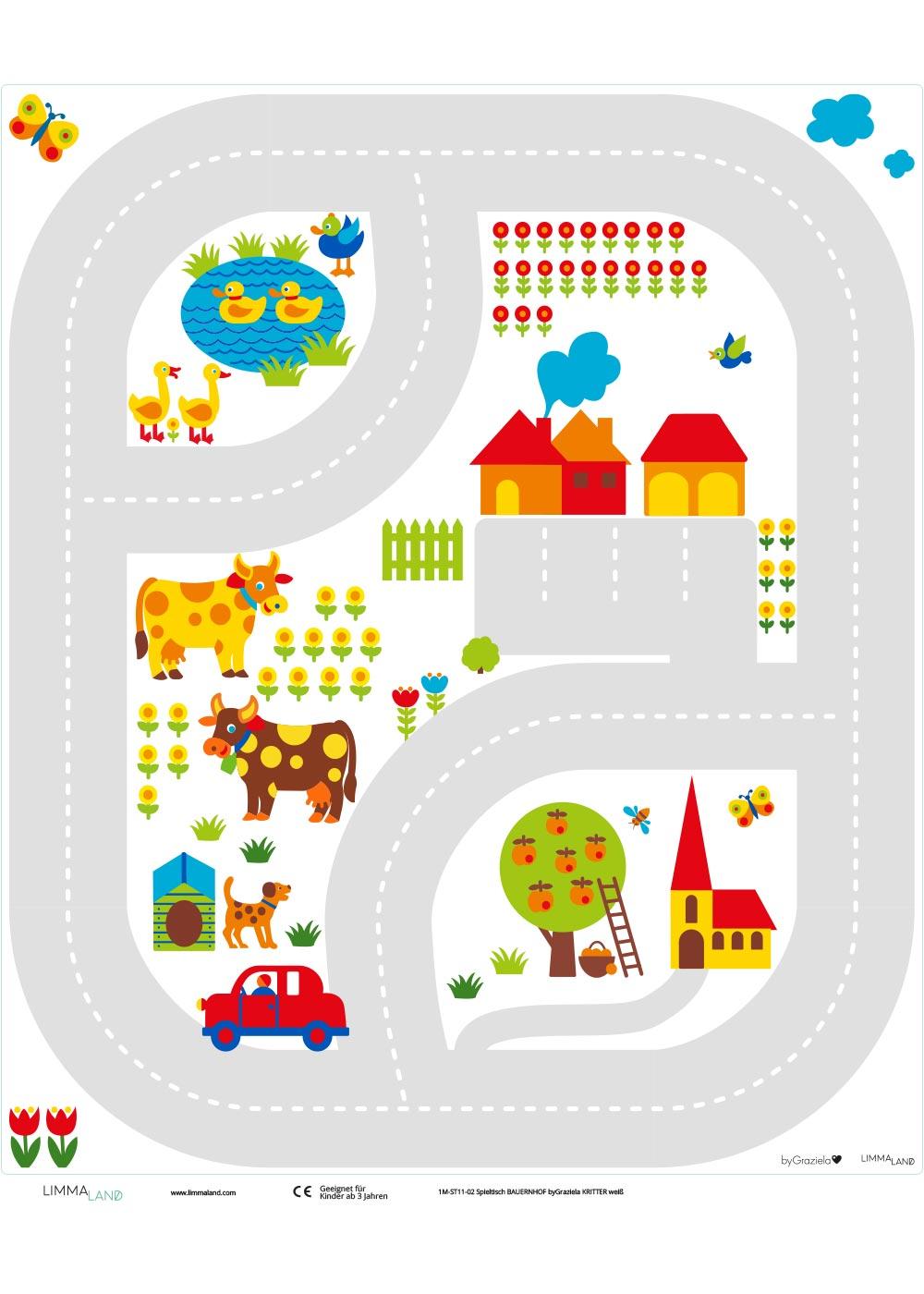 Ikea Kritter Kindertisch ByGraziela Bauernhof Druckvorlage