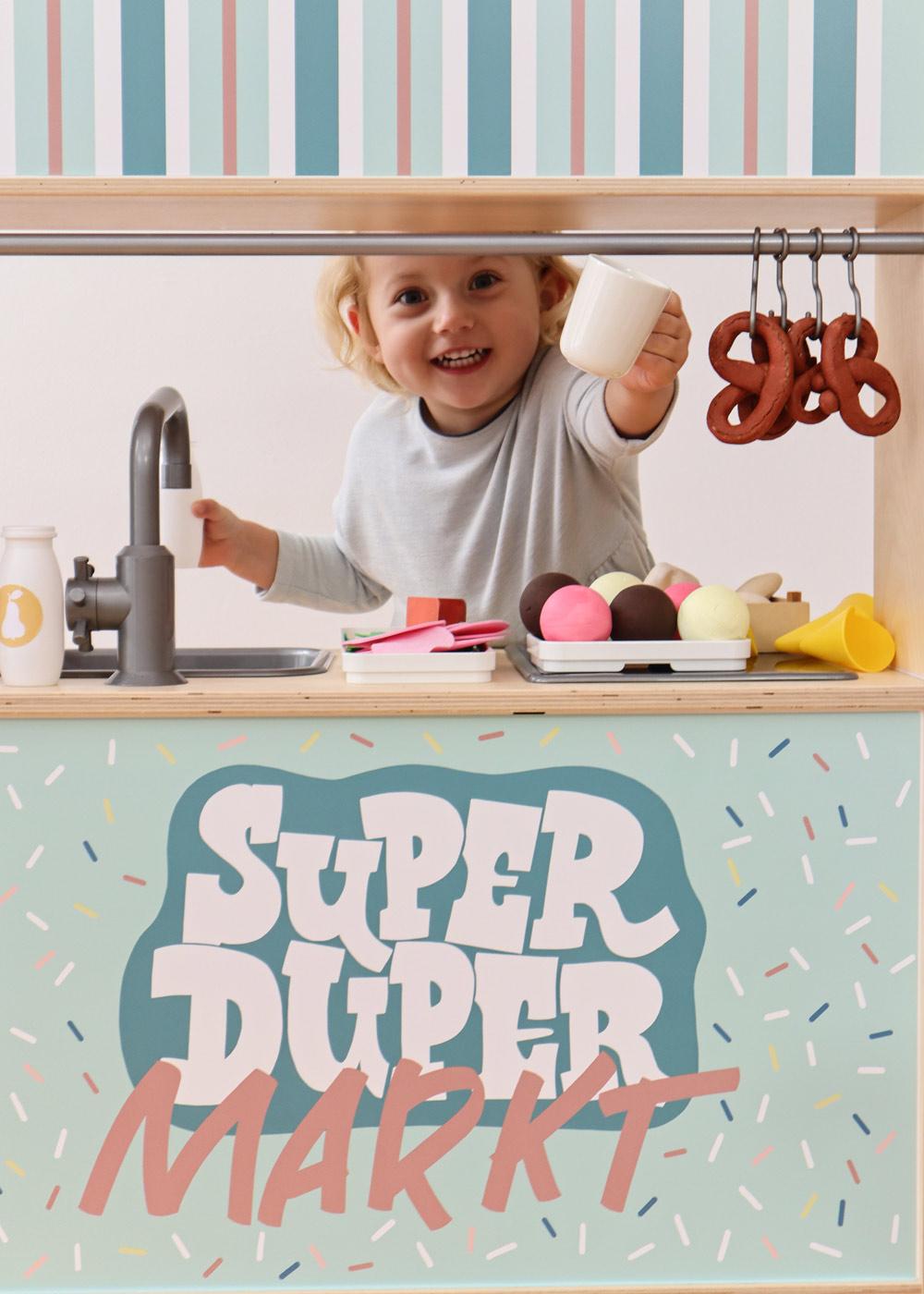 Ikea Kaufladen Duktig Kinderküche Super Duper Mint Teilansicht Fenster