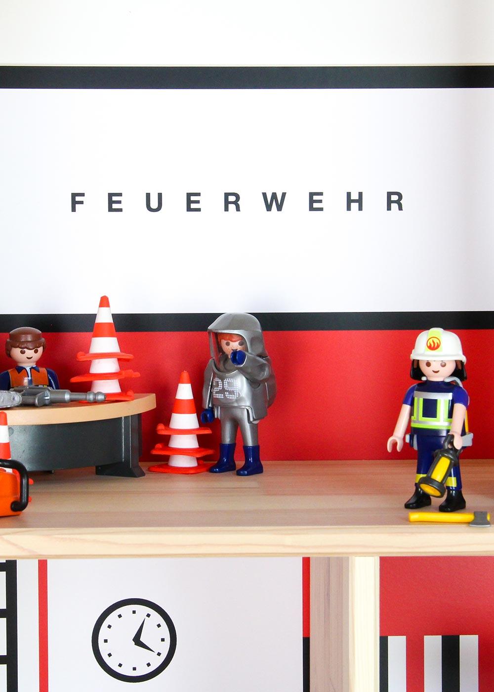 Ikea Flisat Puppenhaus Tapete Feuerwehr Teilansicht