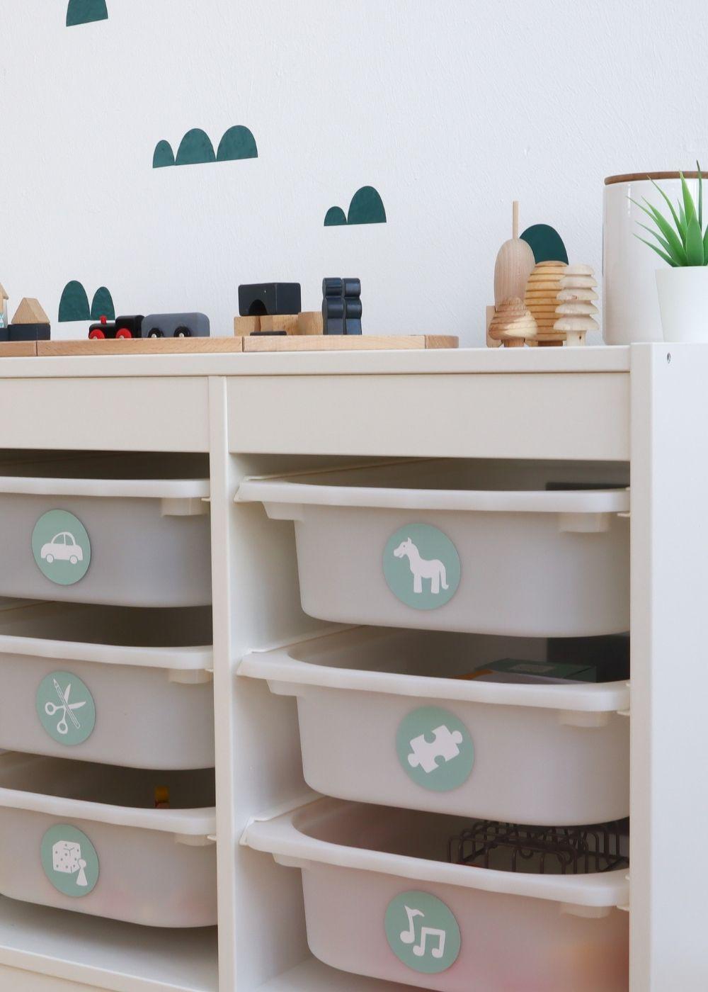 Kinderzimmer Montessori Ordnungssticker