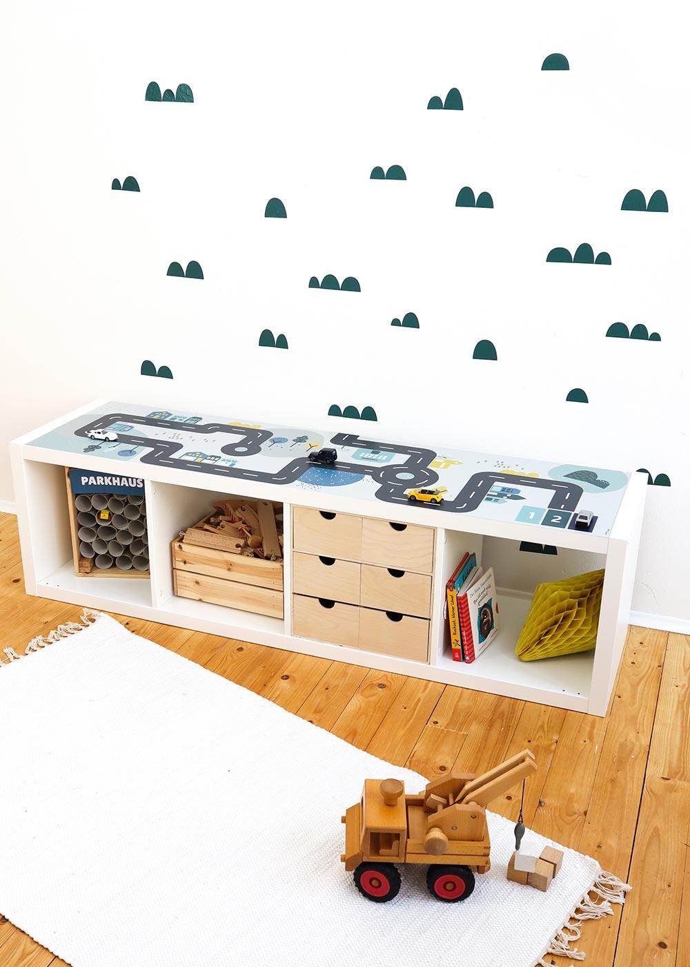 Ikea Kallax Regal Smastraat 4fach Komplettansicht
