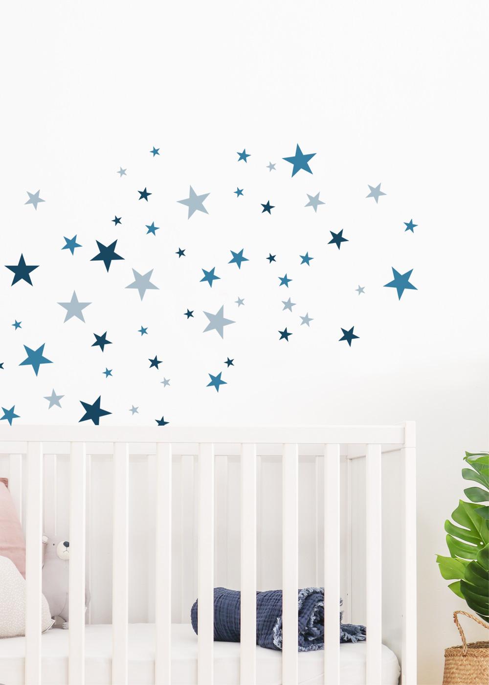 Stickerset Sterne blau Detailansicht