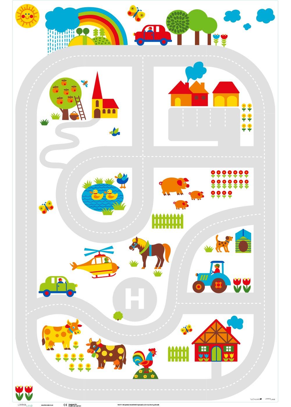 Ikea Lack Couchtisch ByGraziela Bauernhof 78x118 Druckvorlage