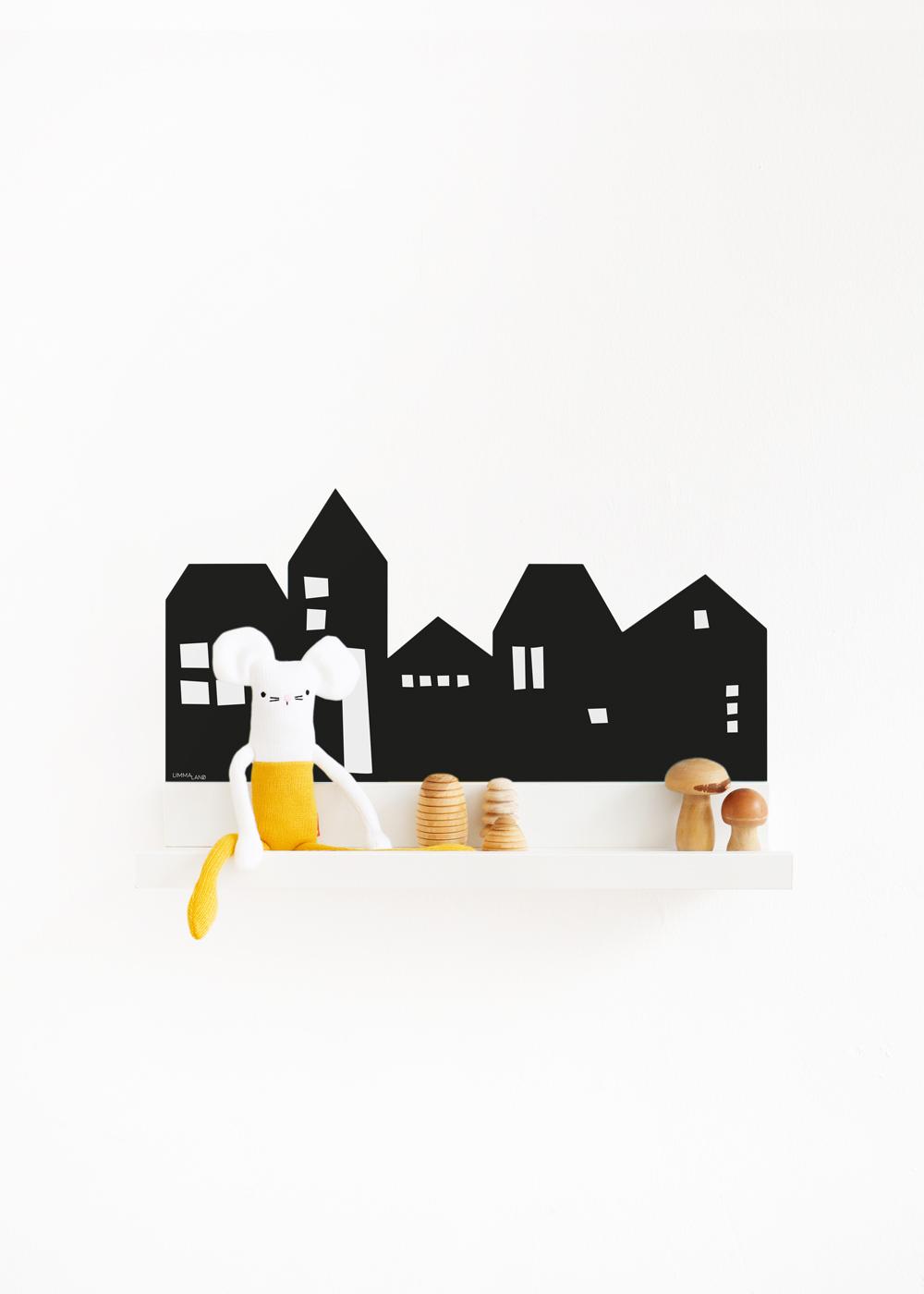 Ikea Mosslanda Bilderleiste Lille Hus schwarz