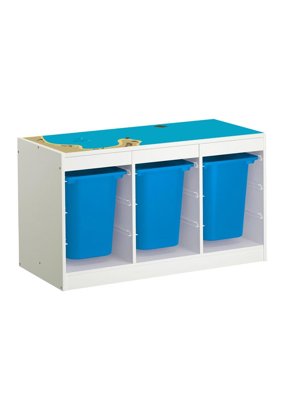 Ikea Trofast Regal Wasserreich Gesamtansicht